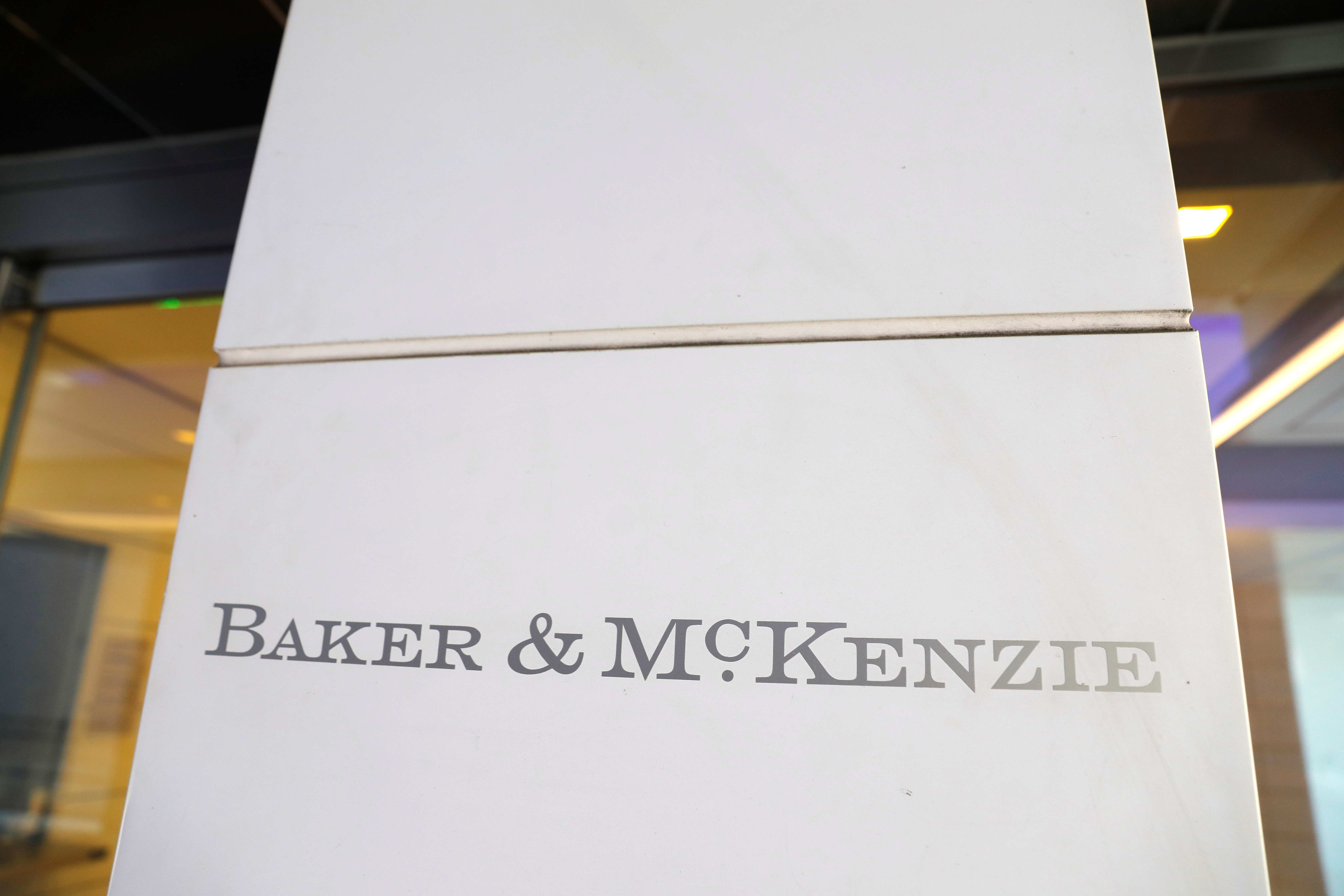 Baker McKenzie legal offices in Washington, D.C., U.S., May 10, 2021. REUTERS/Andrew Kelly