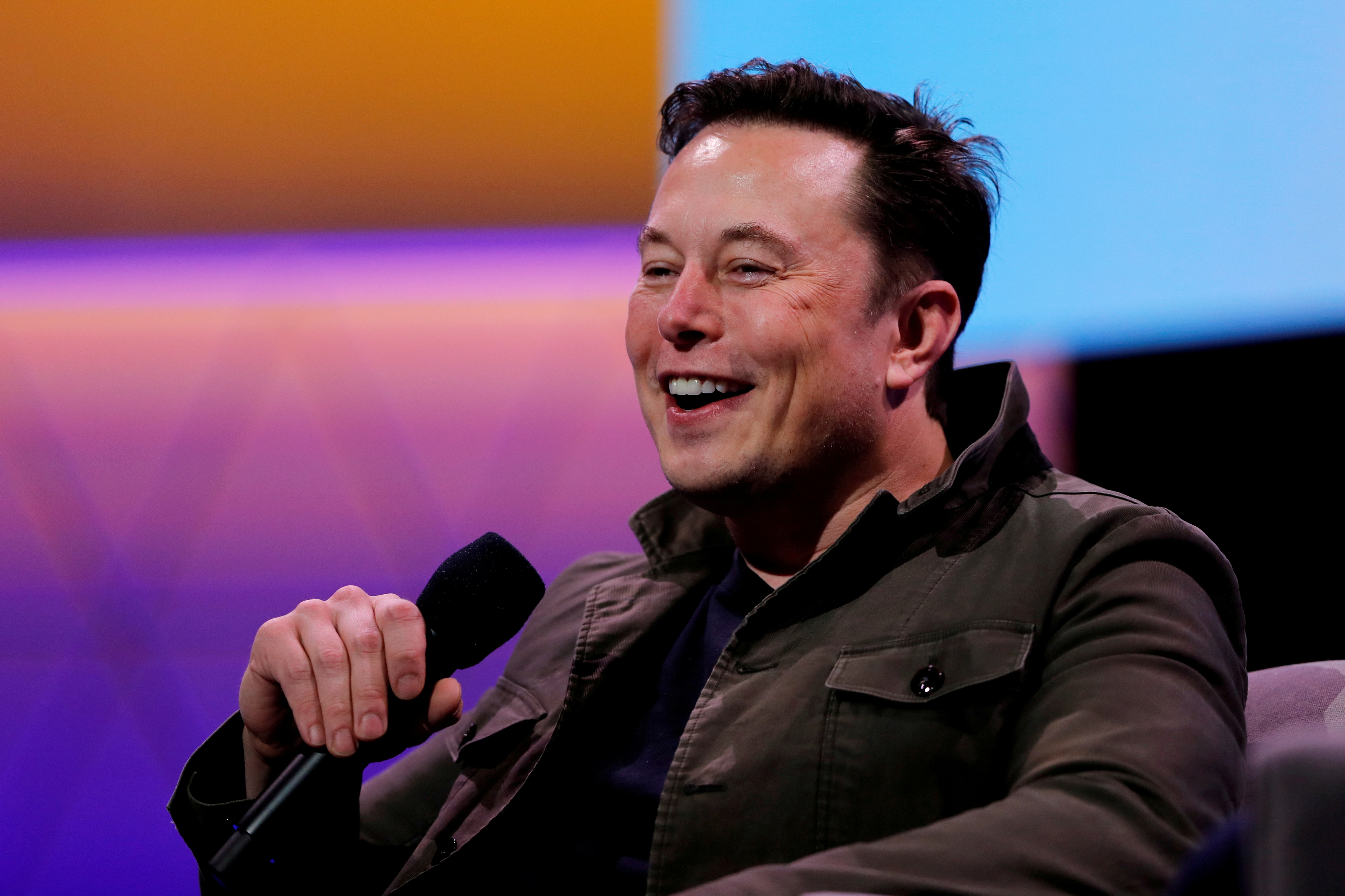 Tesla CEO Elon Musk speaks during the E3 gaming convention in Los Angeles, California, U.S., June 13, 2019.  REUTERS/Mike Blake