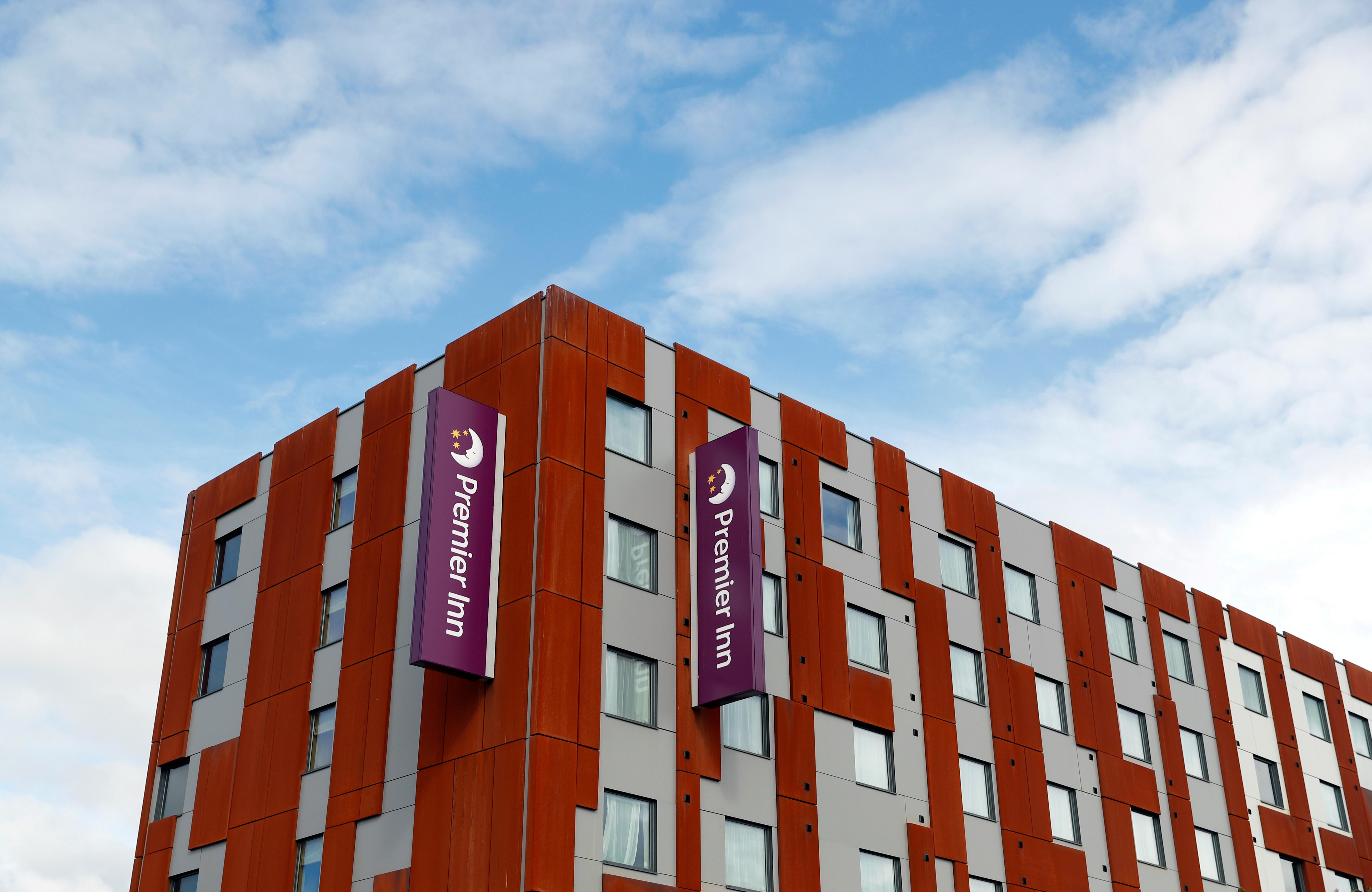 A Premier Inn hotel is pictured in Milton Keynes, Britain September 25, 2020. REUTERS/Andrew Boyers