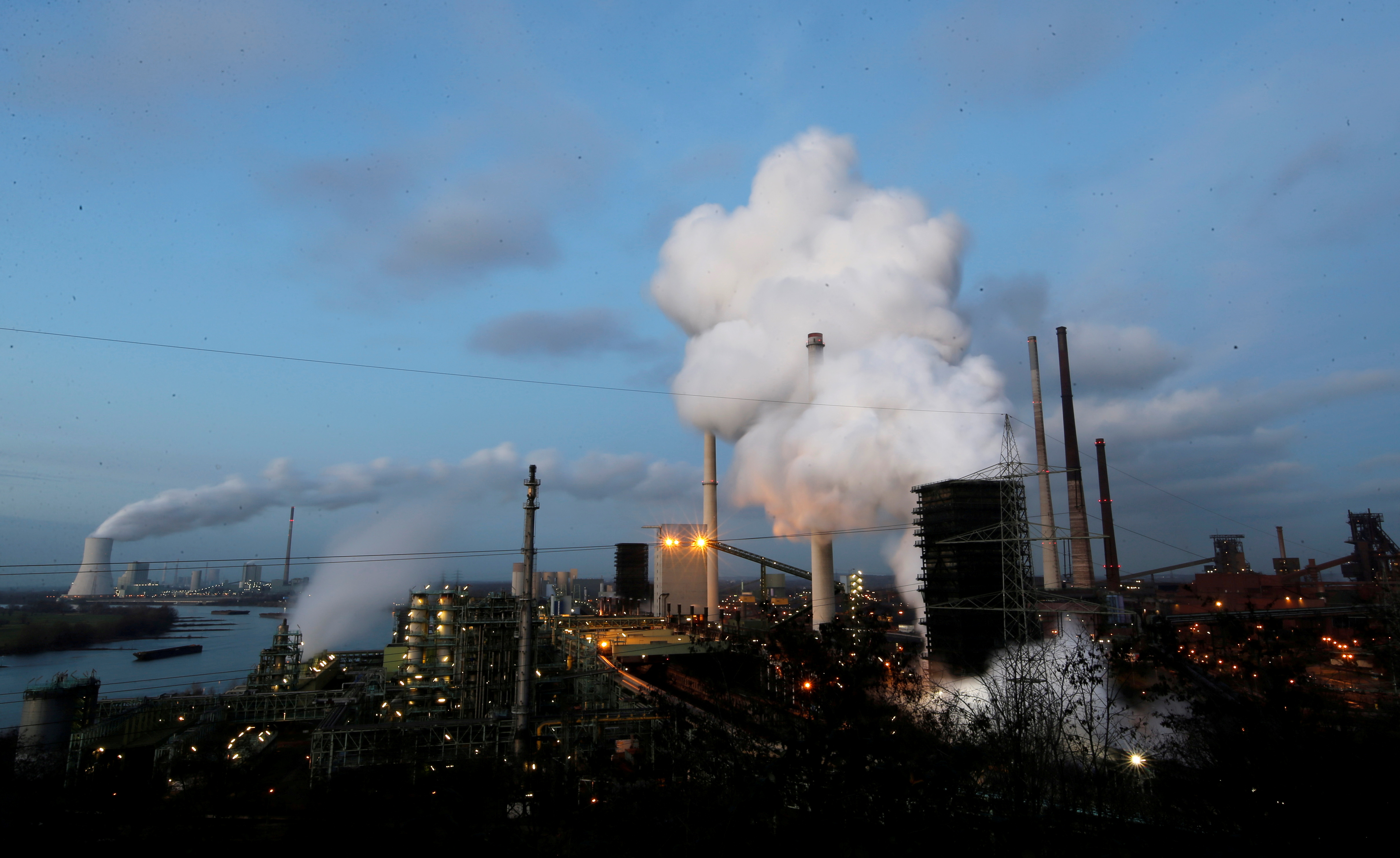 General view of the ThyssenKrupp Steel Europe plant in Duisburg, Germany, January 7, 2020. REUTERS/Leon Kuegeler