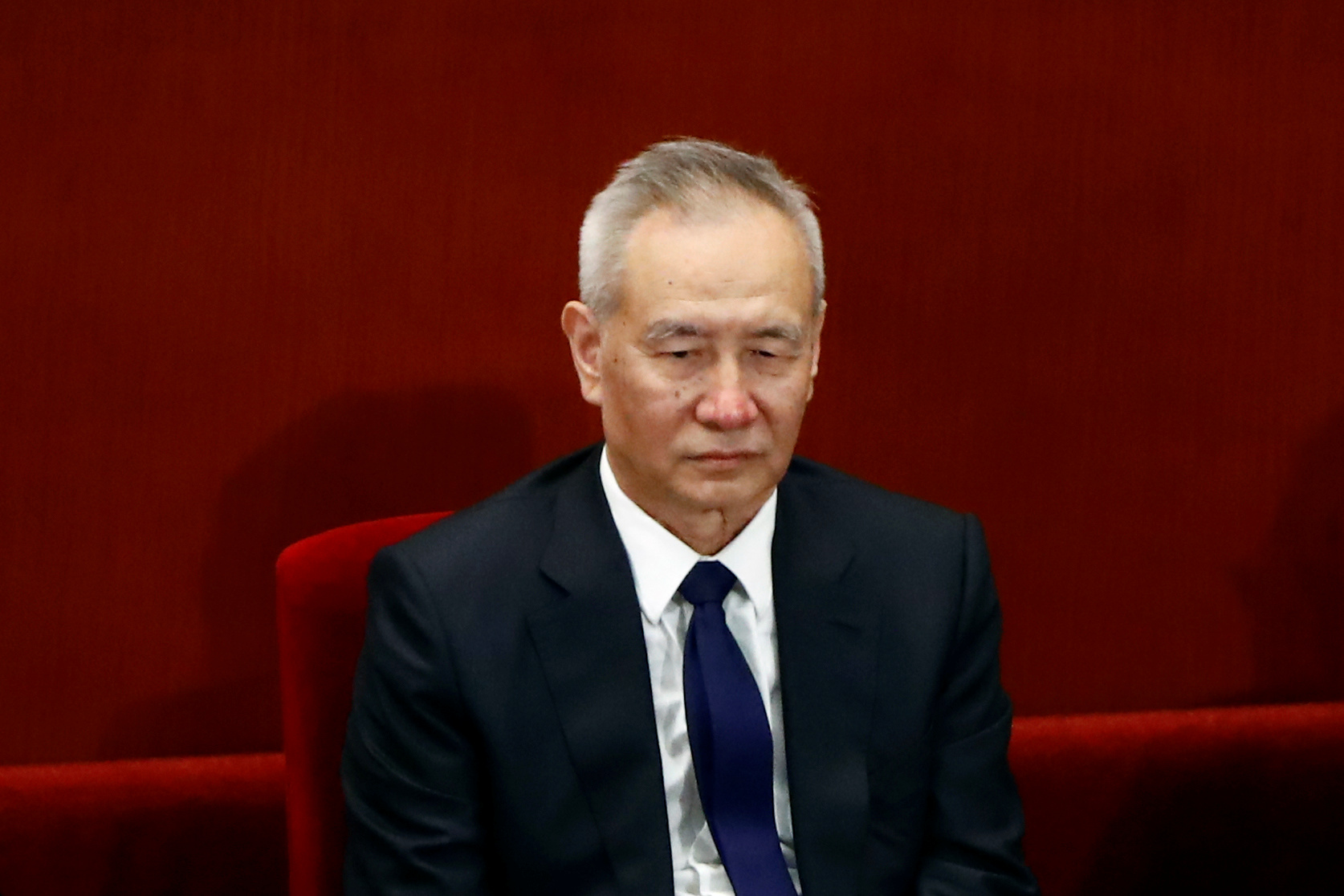 Chinese Vice Premier Liu He attends the closing session of the Chinese People's Political Consultative Conference (CPPCC) at the Great Hall of the People in Beijing, China May 27, 2020.  REUTERS/Thomas Peter/Pool