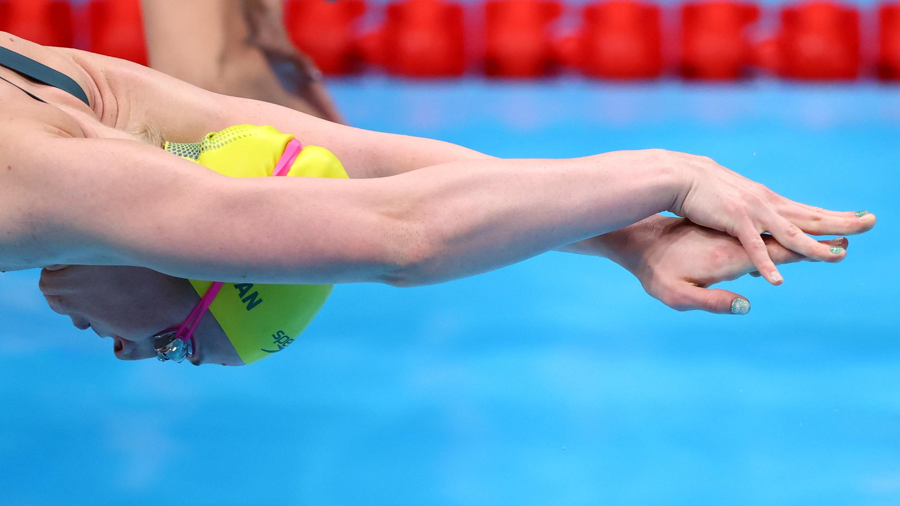 Tokyo 2020 Olympics - Swimming - Women's 4 x 100m Freestyle Relay - Heats - Tokyo Aquatics Centre - Tokyo, Japan - July 24, 2021. Mollie O'Callaghan of Australia in action REUTERS/Marko Djurica
