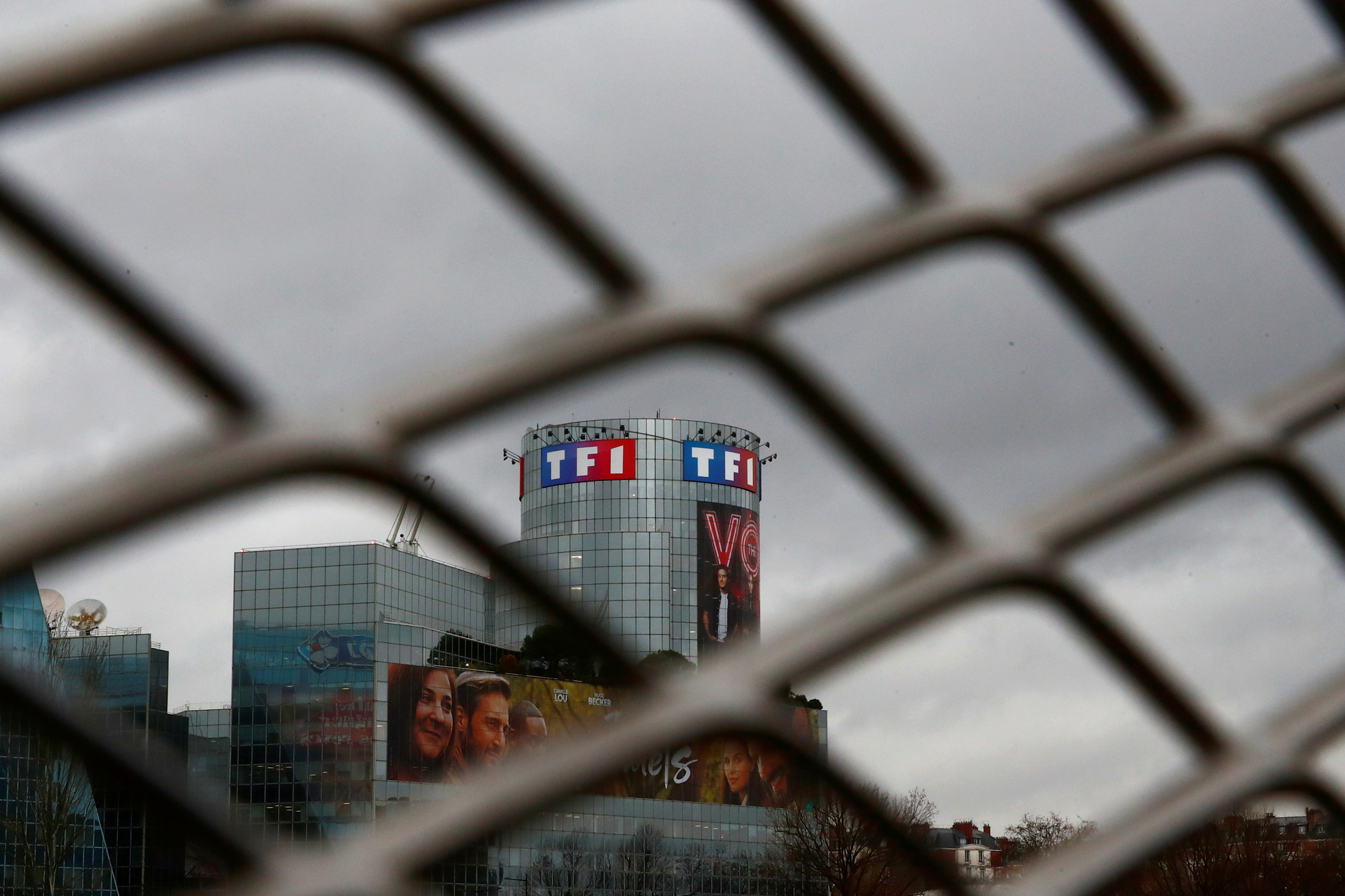A view shows French television networks TF1 headquarters in Boulogne-Billancourt, near Paris, France, February 18, 2021. REUTERS/Gonzalo Fuentes/File Photo