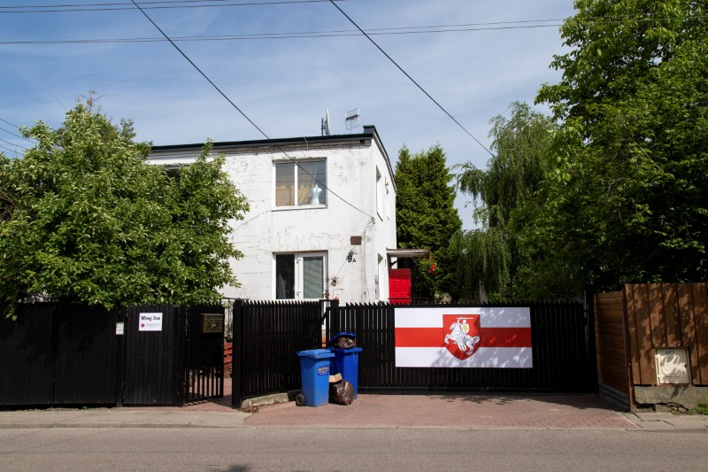 The House of Peace (Mirnyj Dom), a shelter for Belarusian refugees, is pictured in Warsaw, Poland June 15, 2021. REUTERS/Kuba Stezycki