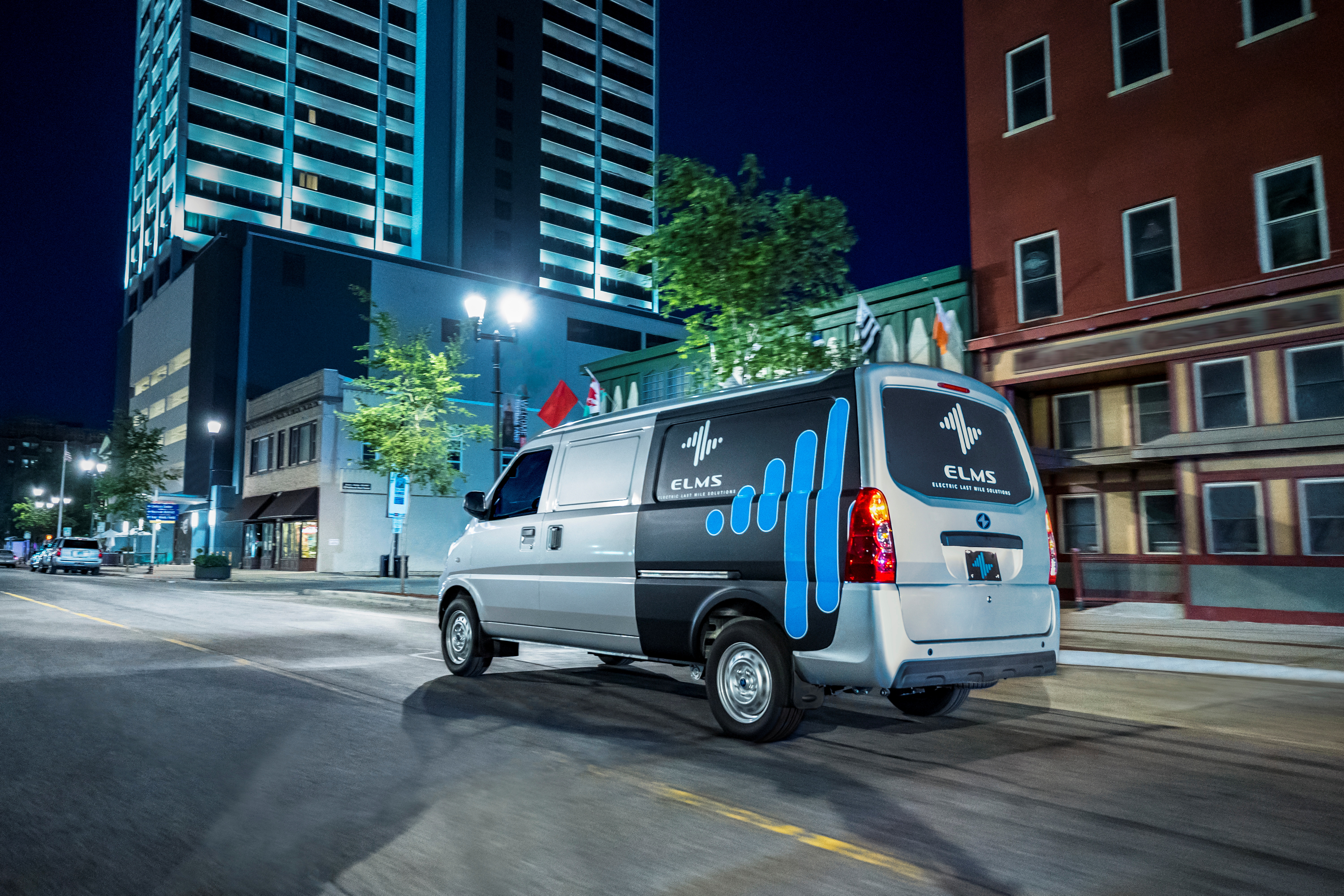 An Urban Delivery vehicle manufactured by ELMS (Electric Last Mile Solutions) is seen in an undated photograph in South Bend, Indiana, U.S. ELMS/Handout via REUTERS.