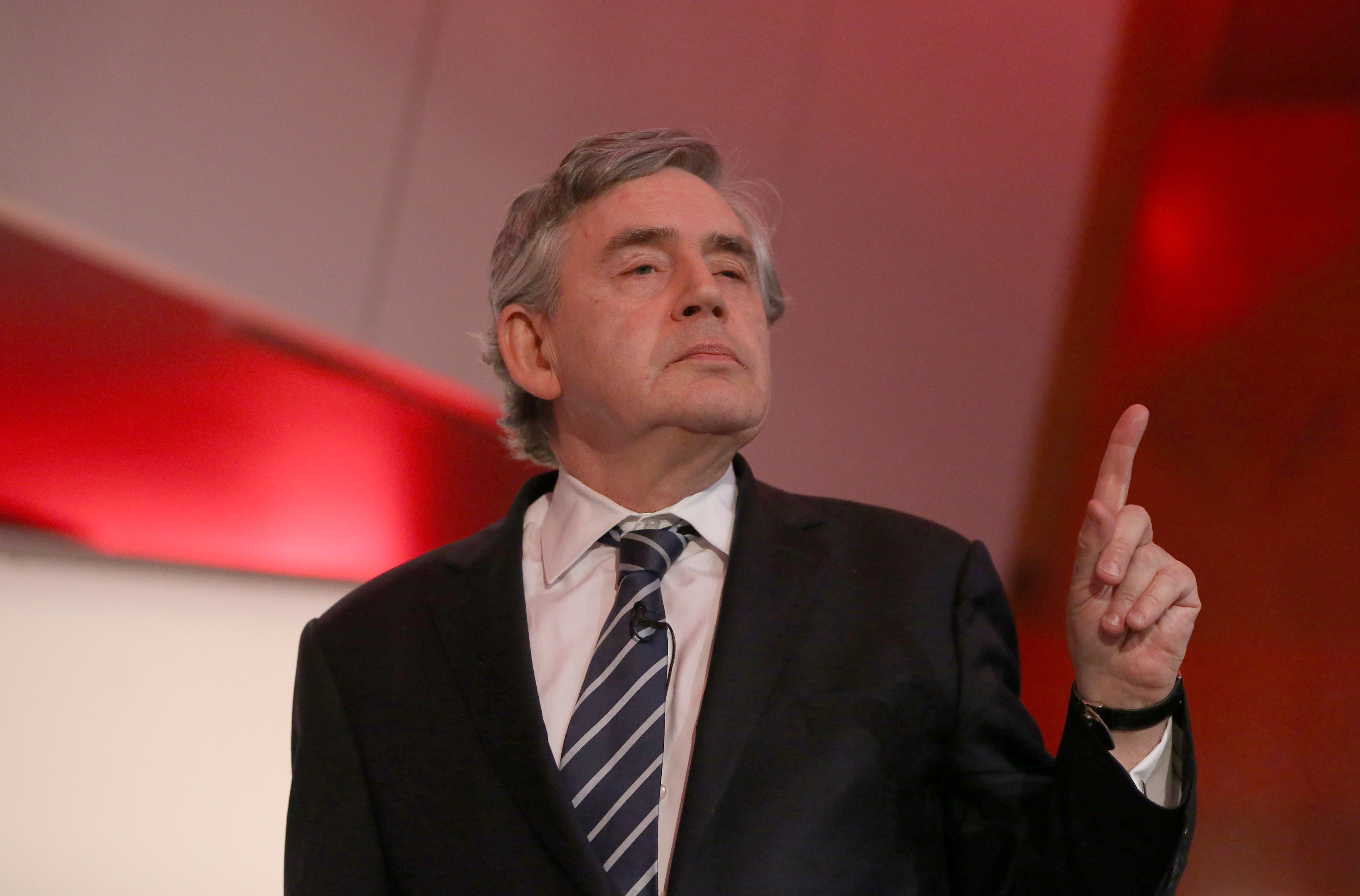 Former British Prime Minister, Gordon Brown, delivers a speech n central London, Britain May 21, 2016.  REUTERS/Neil Hall/File Photo