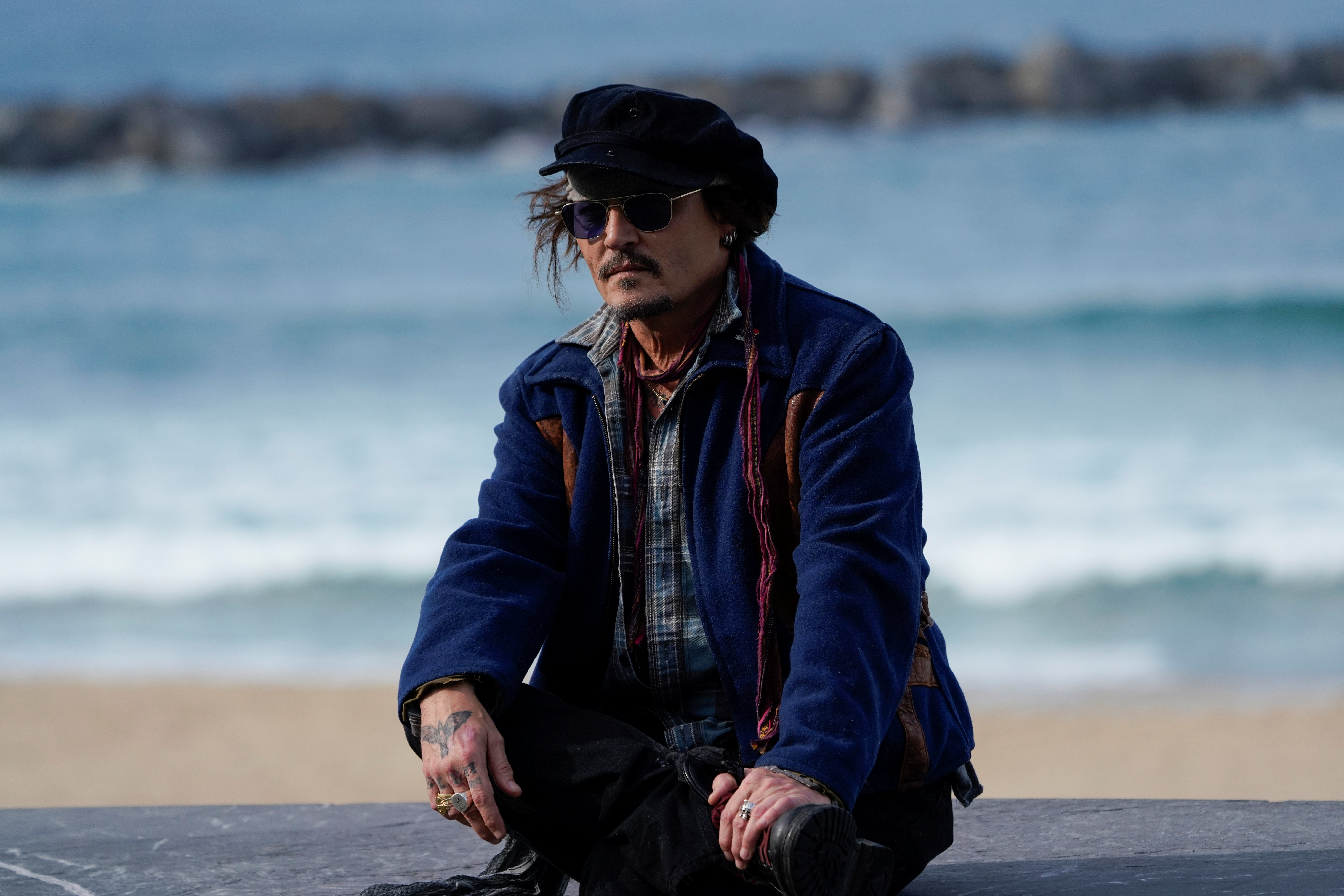 Actor Johnny Depp attends a photocall ahead of receiving the Donostia Award at the 69th San Sebastian International Film Festival, in San Sebastian, Spain, September 22, 2021. REUTERS/Vincent West
