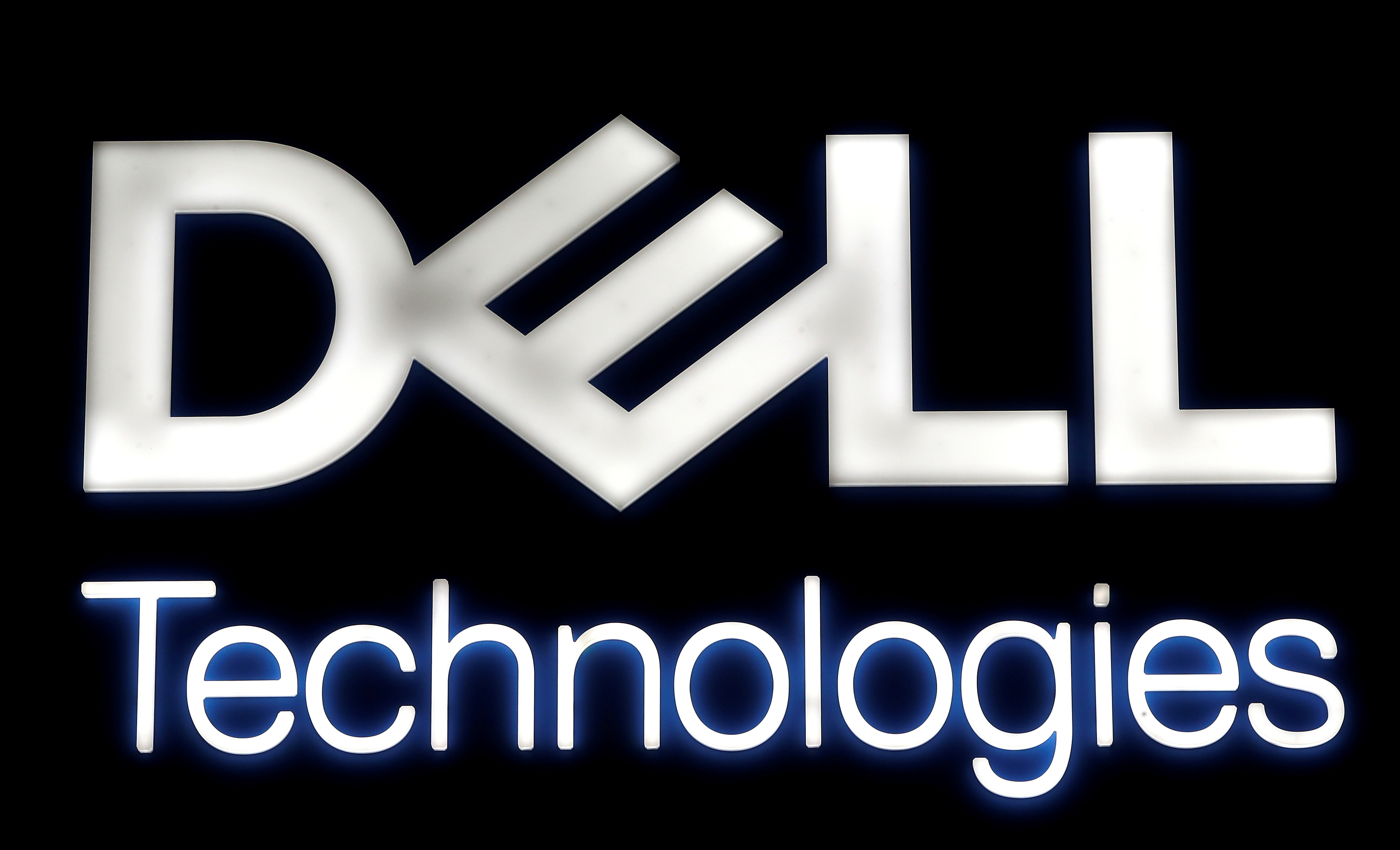 A logo of Dell Technologies. REUTERS/Yves Herman/File Photo