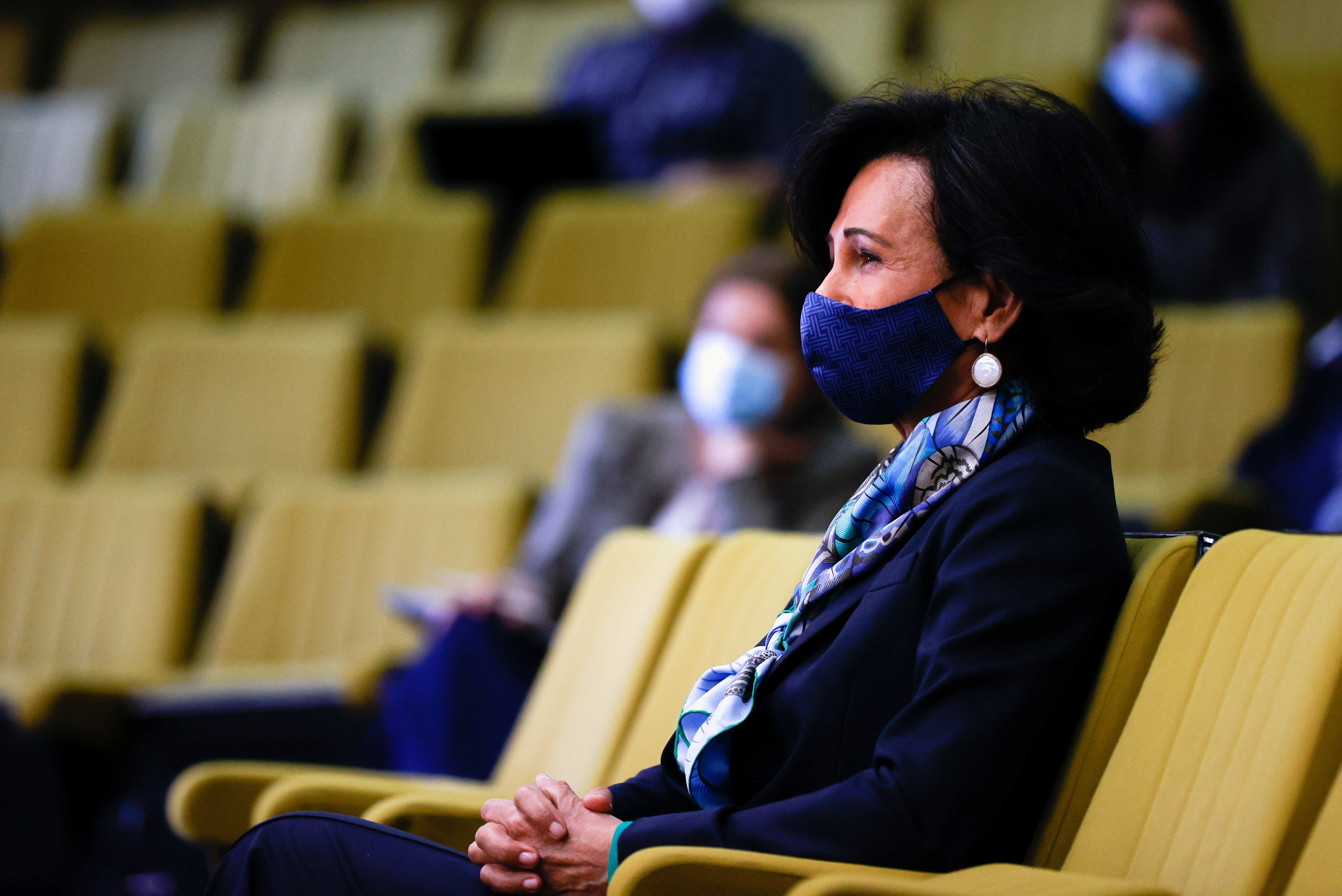 Banco Santander's chairwoman Ana Patricia Botin attends a trial against Santander over the bank's withdrawal of the CEO job offer to Italian banker Andrea Orcel, in a high court in Madrid, Spain, May 19, 2021. REUTERS/Juan Medina