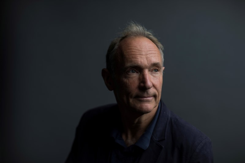 World Wide Web founder Tim Berners-Lee poses for a photograph following a speech at the Mozilla Festival 2018 in London, Britain October 27, 2018. REUTERS/Simon Dawson