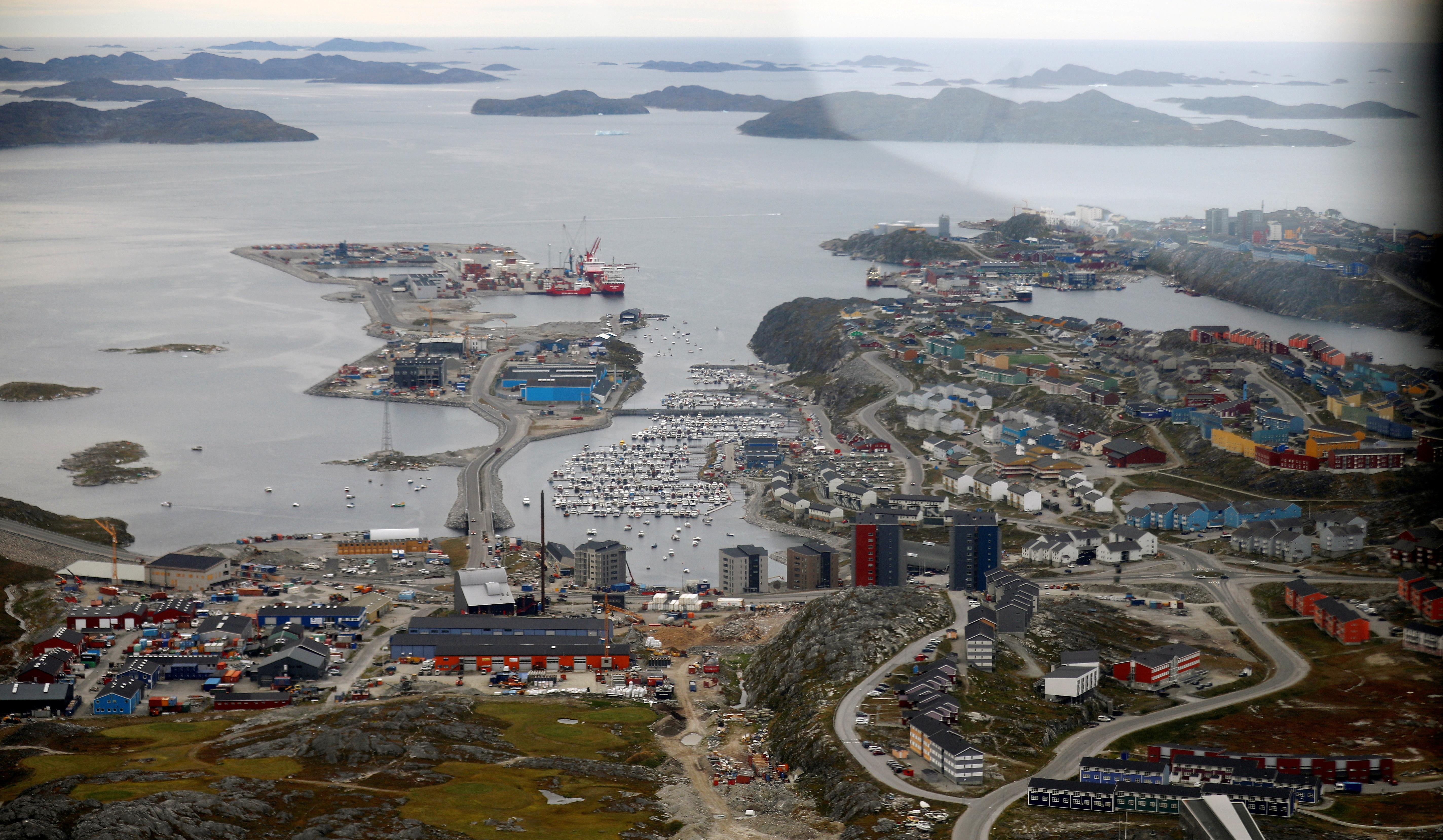 A general view of Nuuk, Greenland, September 11, 2021. REUTERS/Hannibal Hanschke