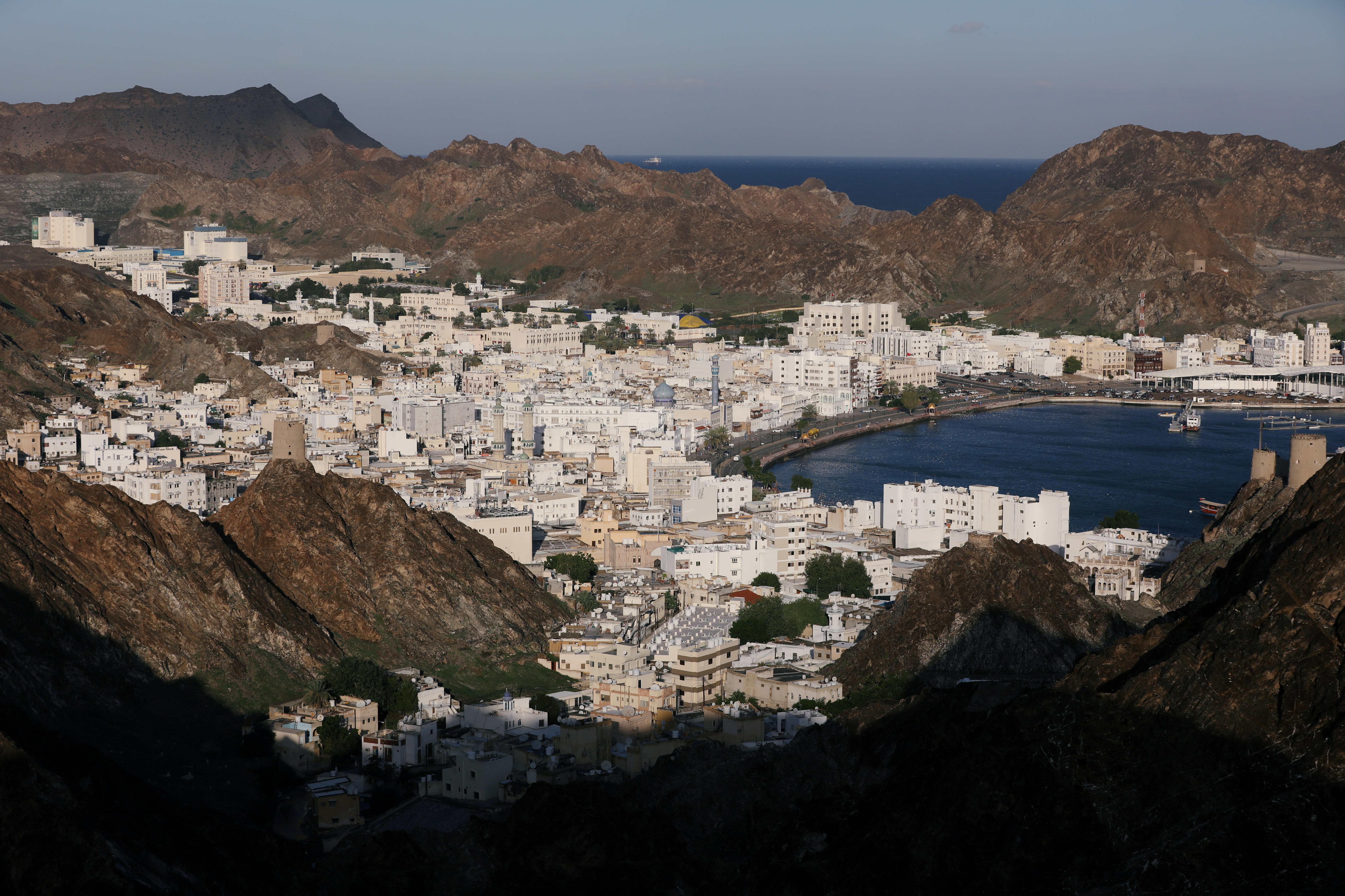 General view of old Muscat, Oman, January 12, 2020. REUTERS/Christopher Pike/File Photo