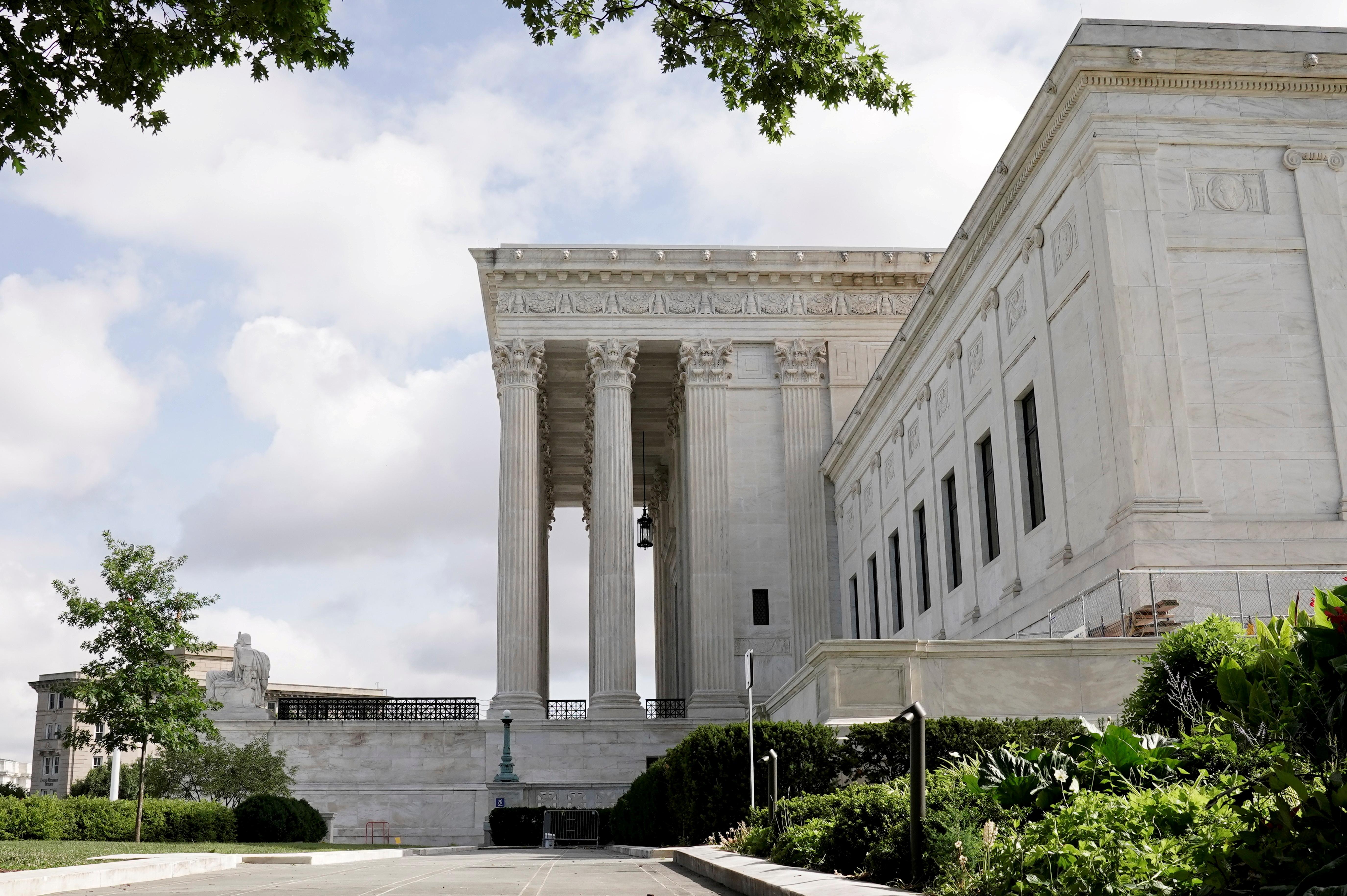File Photo: A general view of the U.S. Supreme Court building in Washington, D.C. REUTERS/Ken Cedeno