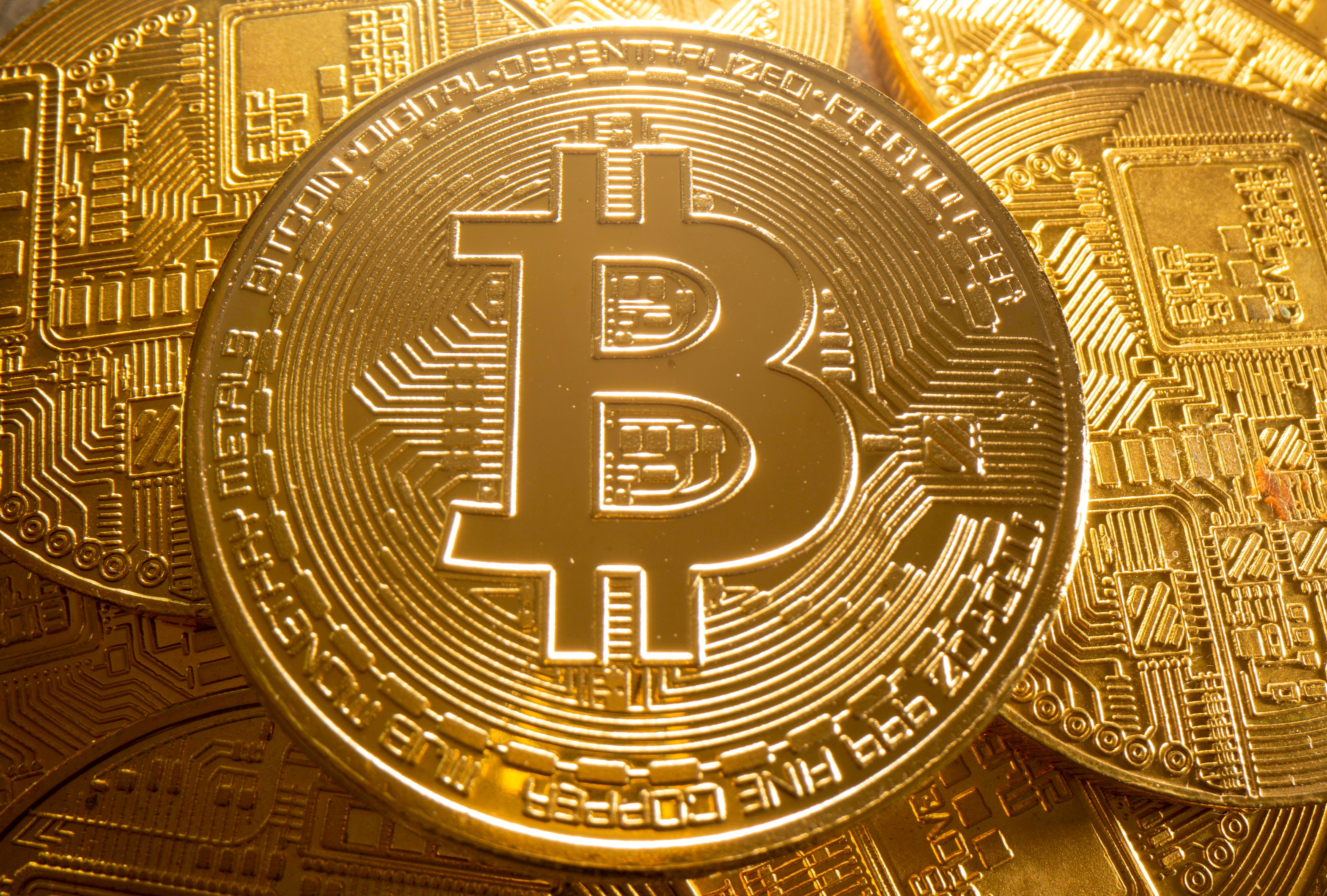 A representation of cryptocurrency Bitcoin is seen in this illustration taken August 6, 2021. REUTERS/Dado Ruvic/Illustration//File Photo