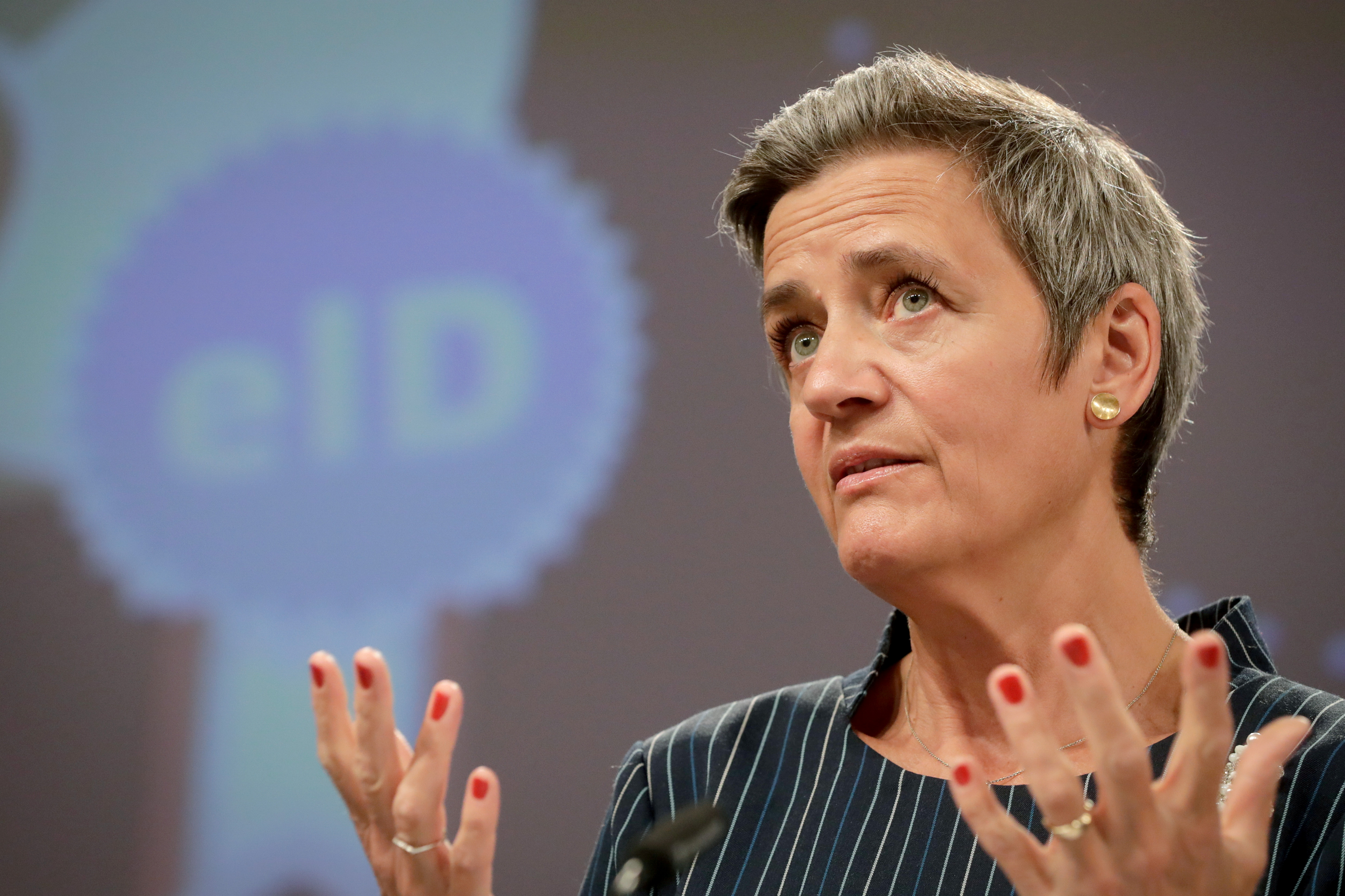 Executive Vice-President of the European Commission for a Europe fit for the Digital Age (Competition) Margrethe Vestager  gives a press conference at the European Commission in Brussels, Belgium June 3, 2021. Stephanie Lecocq/Pool via REUTERS/File Photo