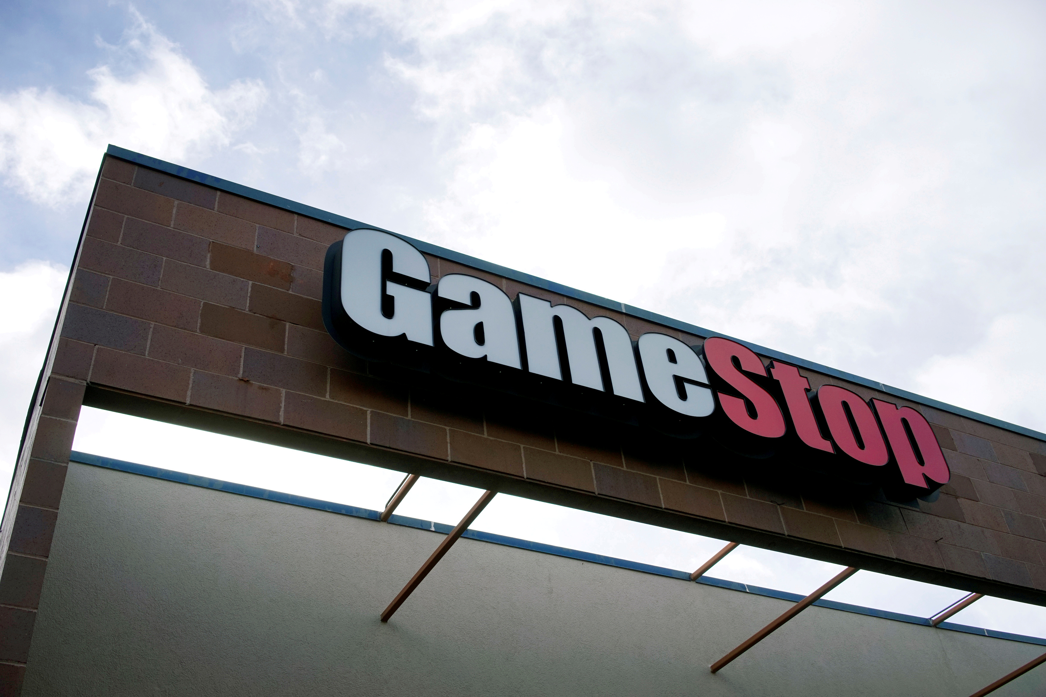 The GameStop store sign is seen at its shop in Westminster, Colorado January 14, 2014.   REUTERS/Rick Wilking