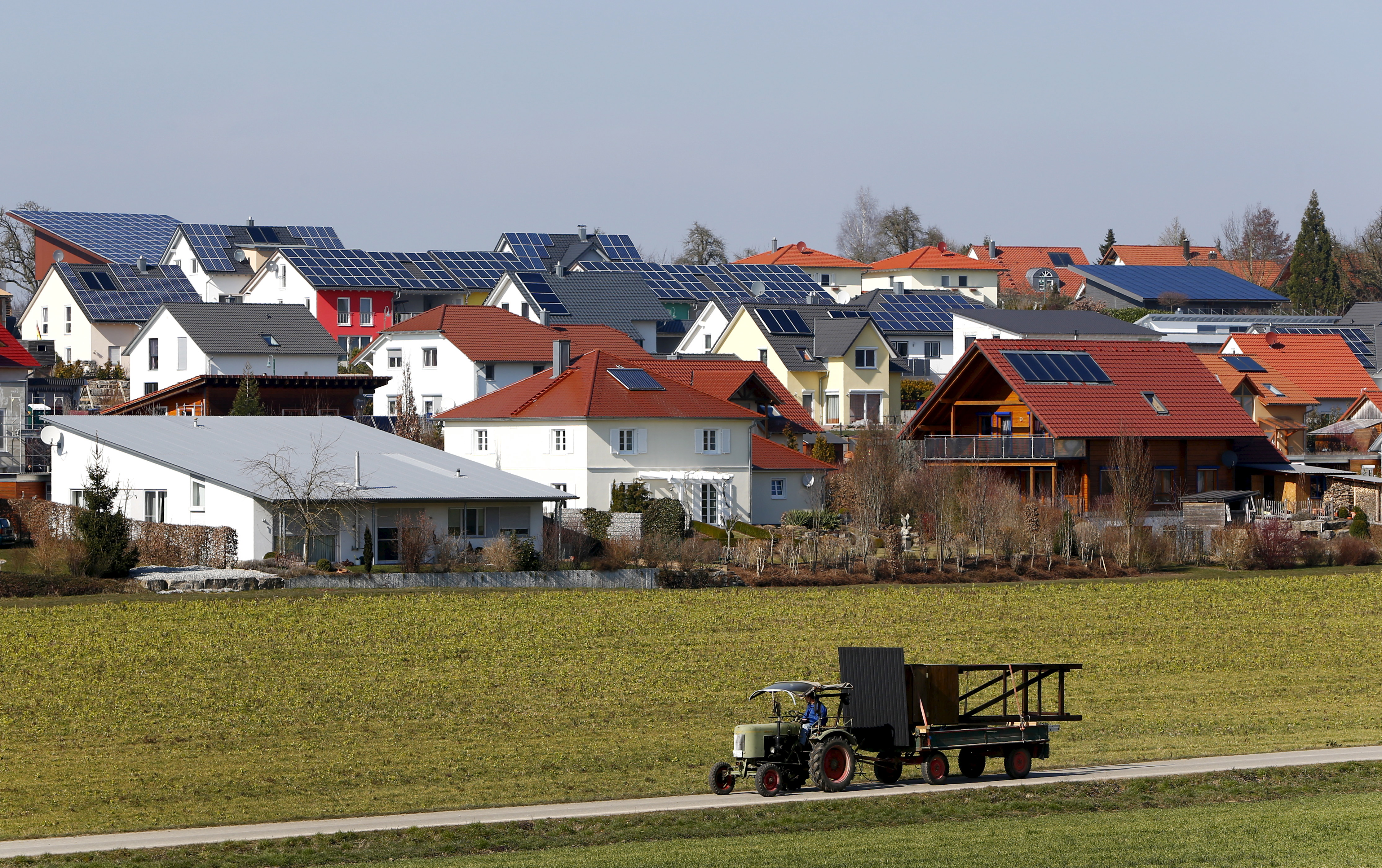 A general view shows the village of Wolpertshausen near Schwaebisch Hall, Germany, March 18, 2016. Picture taken March 18.  REUTERS/Michaela Rehle/Files