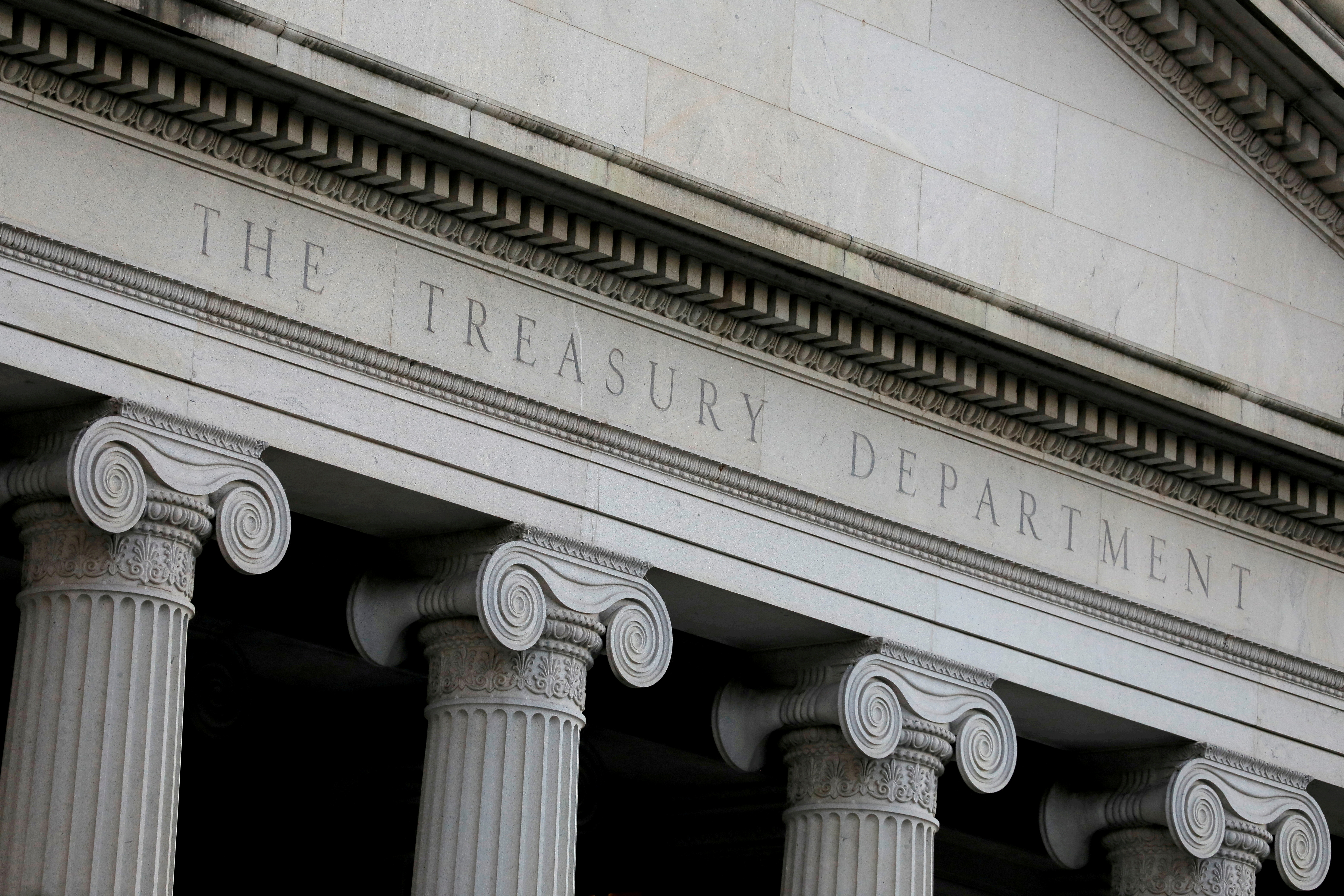 The United States Department of the Treasury is seen in Washington, D.C., U.S., August 30, 2020. REUTERS/Andrew Kelly