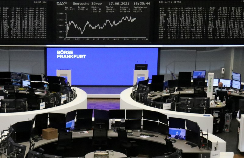 The German share price index DAX graph is pictured at the stock exchange in Frankfurt, Germany, June 17, 2021.    REUTERS/Staff/File photo
