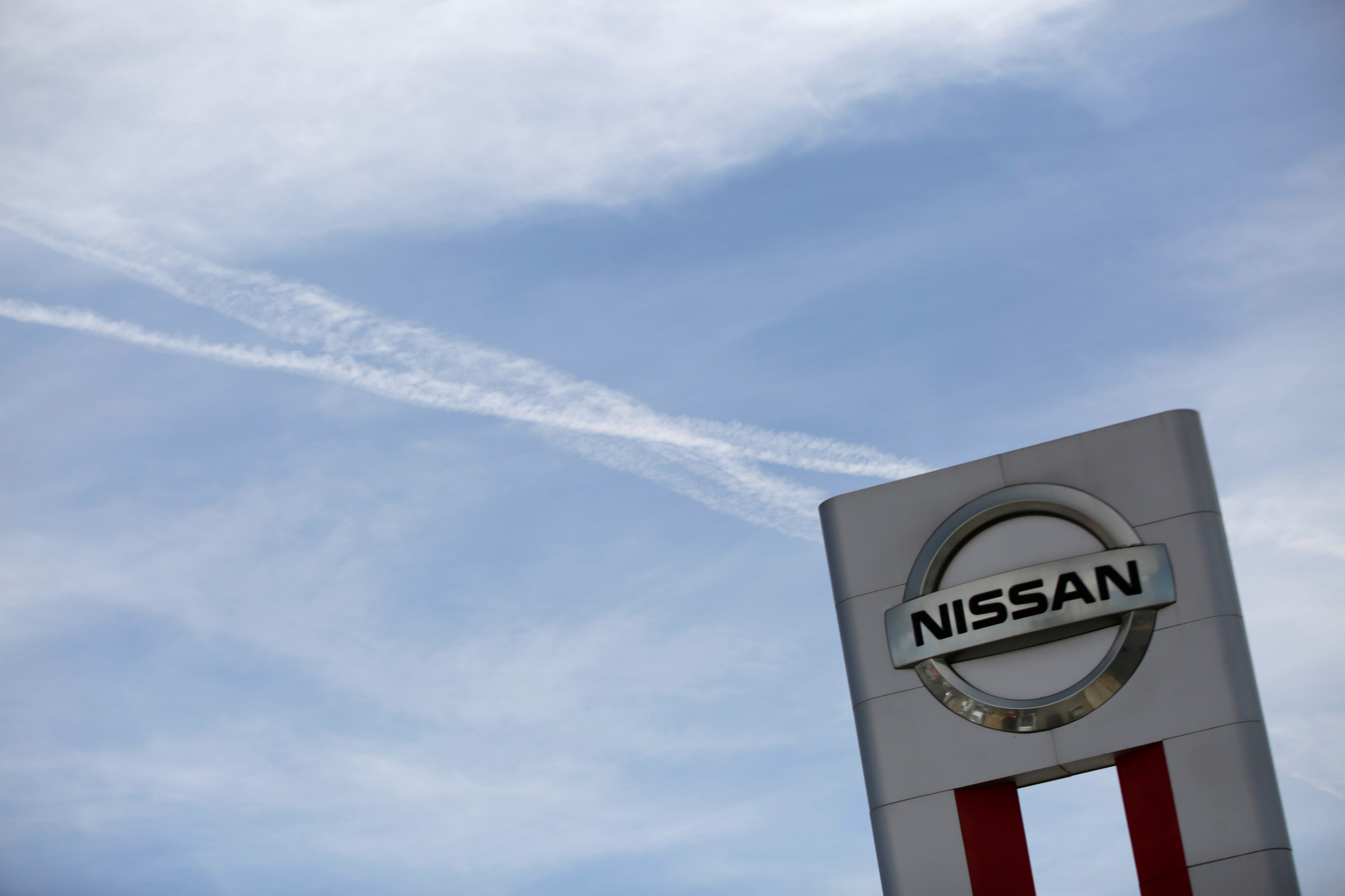 A Nissan logo is seen at a car dealership in Ciudad Juarez, Mexico May 30, 2017. Picture taken May 30, 2017. REUTERS/Jose Luis Gonzalez
