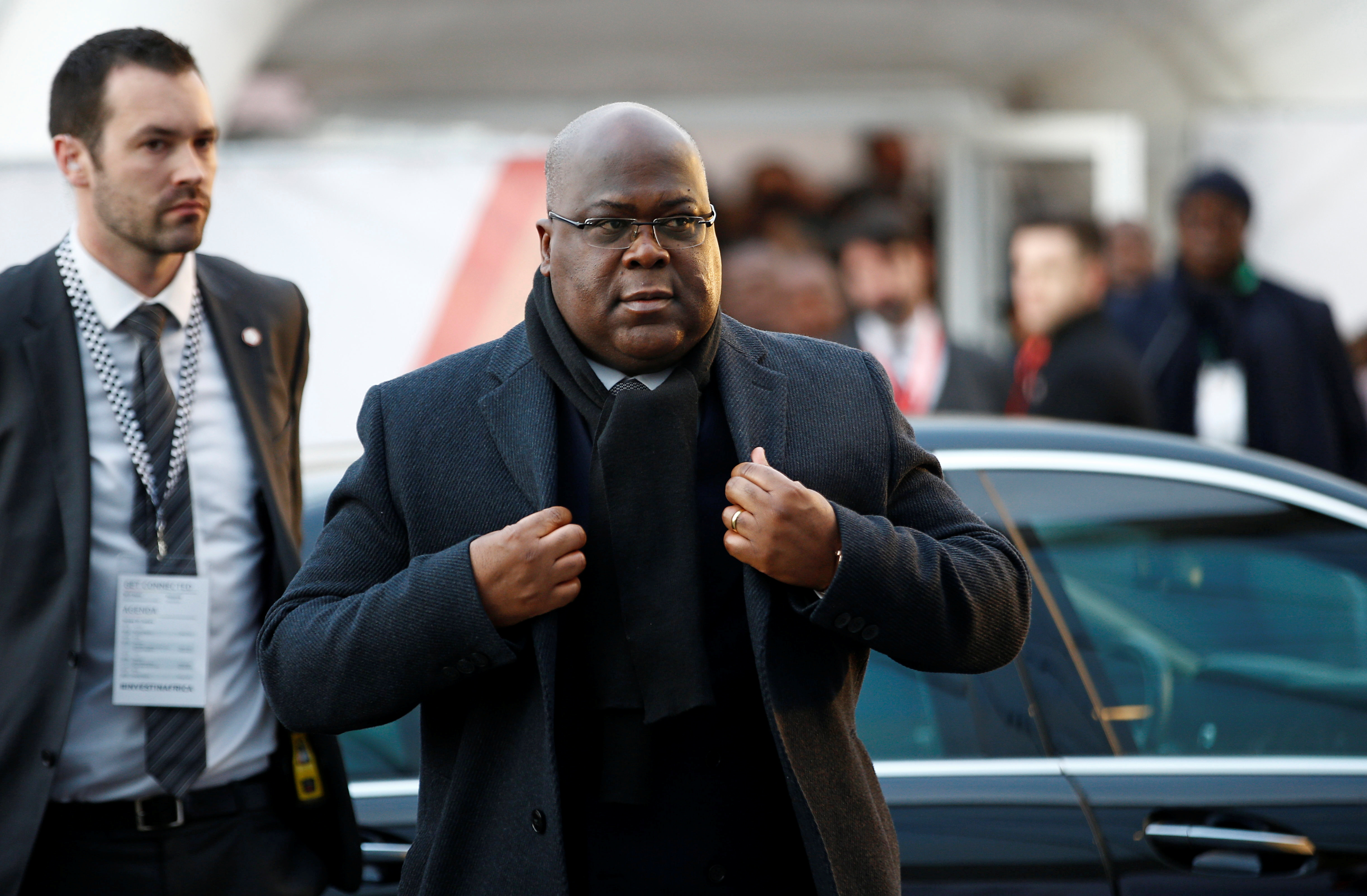 Democratic Republic of Congo President Felix Tshisekedi arrives at the UK-Africa Investment Summit in London, Britain January 20, 2020. REUTERS/Henry Nicholls