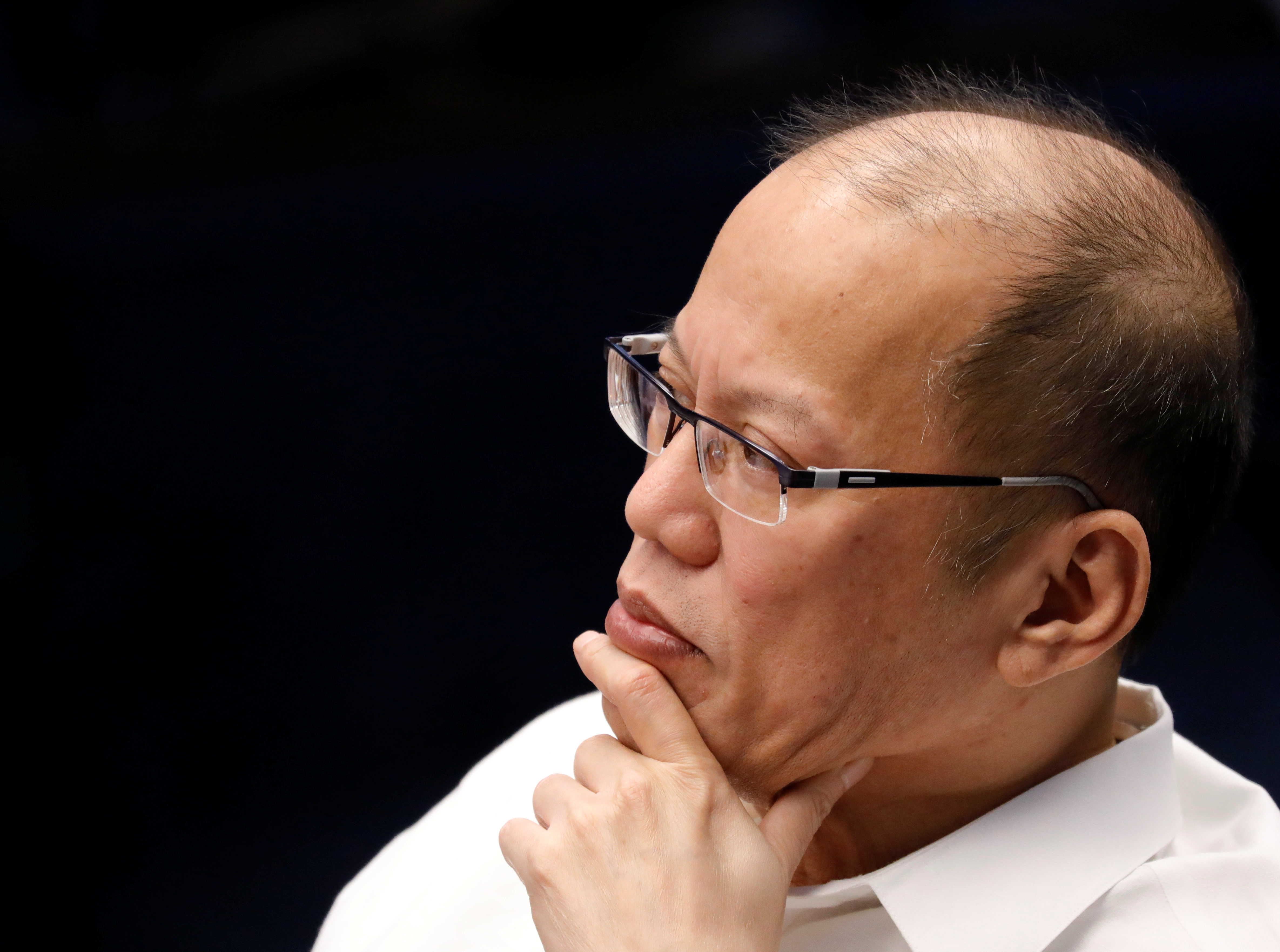Former Philippine's President Benigno Aquino III listens during a senate hearing on the anti dengue drug Dengvaxia at the Philippine senate in Pasay city, Manila, Philippines December 14, 2017. REUTERS/Dondi Tawatao
