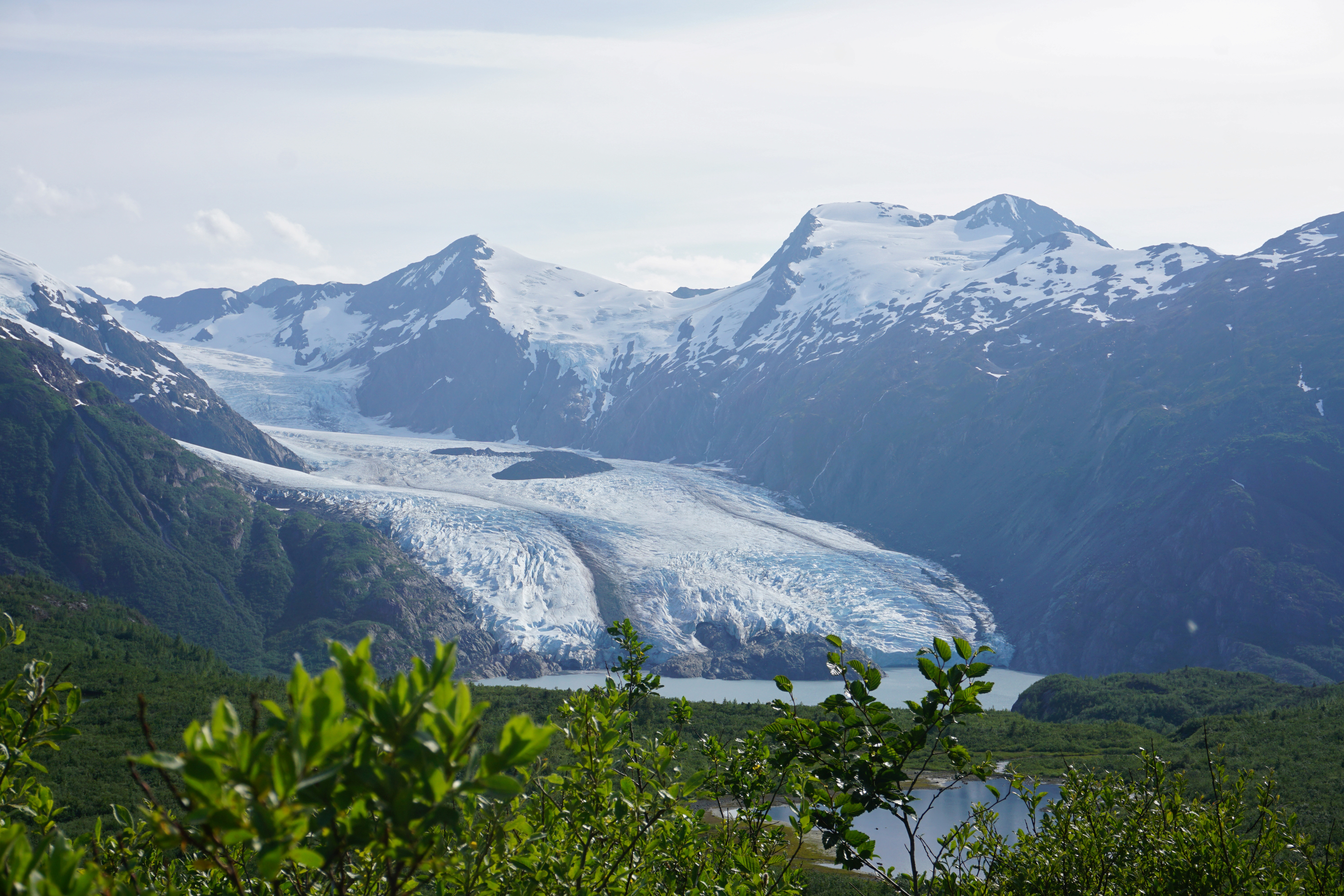 Portage Glacier as seen from Portage Pass in Chugach National Forest in Alaska, U.S. July 7, 2020. REUTERS/Yereth Rosen
