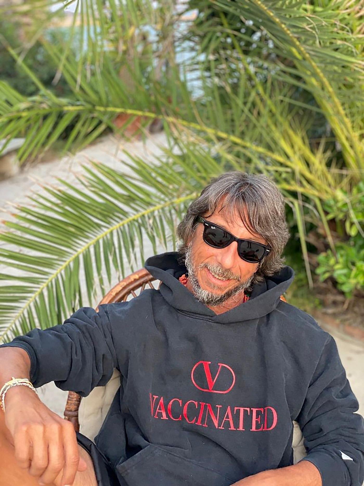 Valentino Creative Director Pierpaolo Piccioli wears a limited-edition, 590 euro