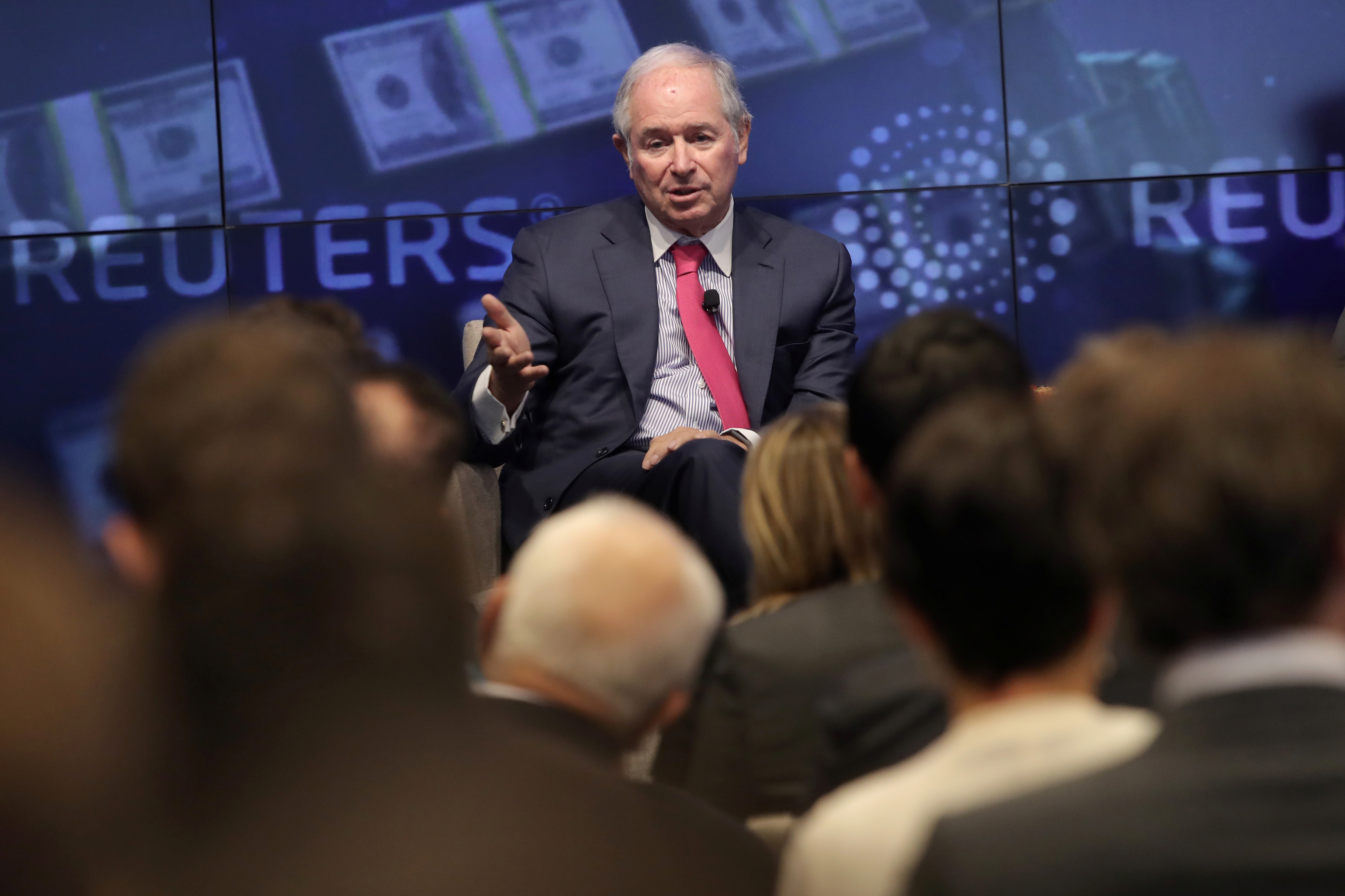 Blackstone Group CEO and Co-Founder Steve Schwarzman speaks at a Reuters Newsmaker event in New York, November 6, 2019. REUTERS/Gary He
