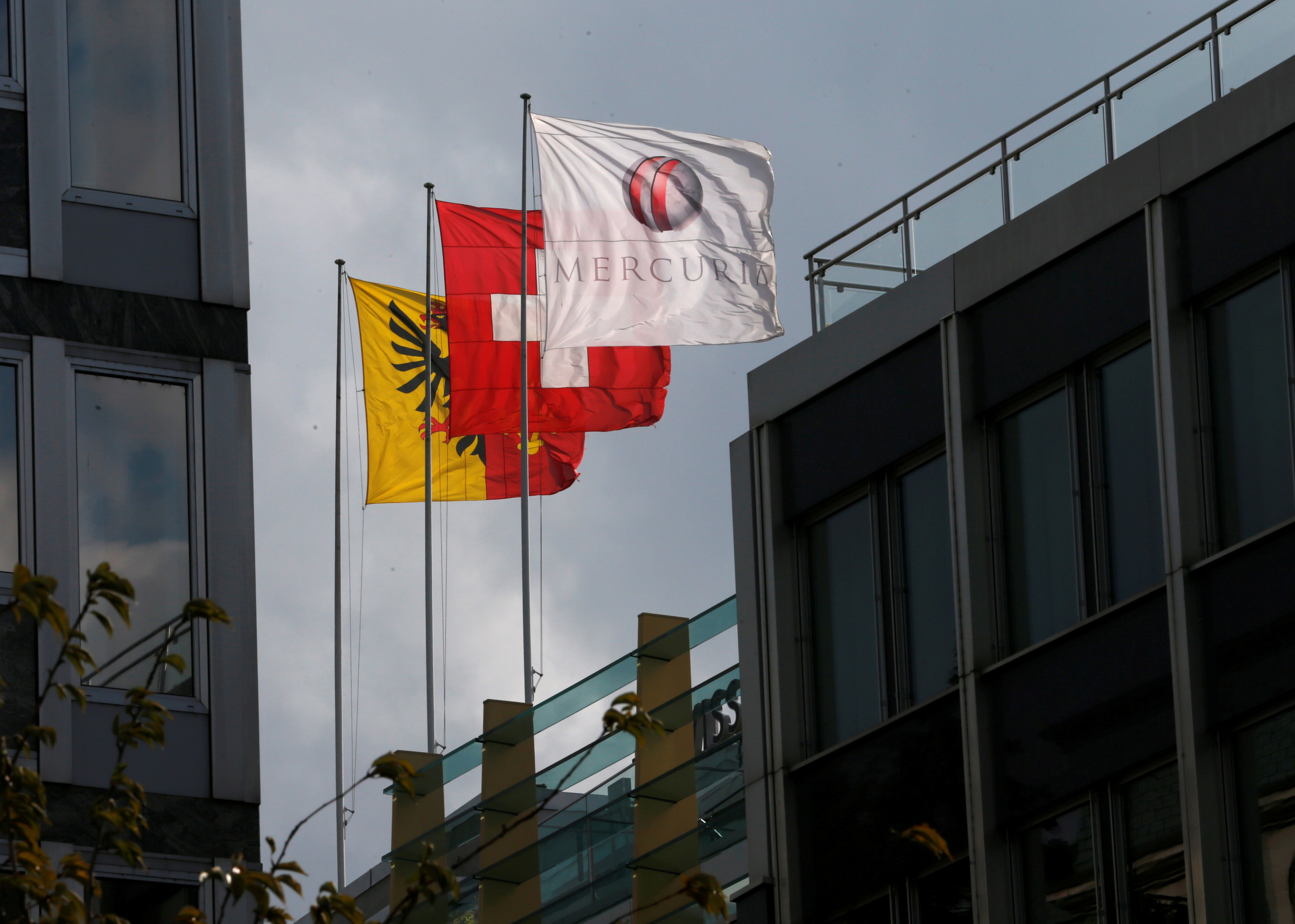 A flag with the logo of Mercuria commodity trading house is pictured in Geneva, Switzerland, October 11, 2016.  REUTERS/Denis Balibouse/File Photo