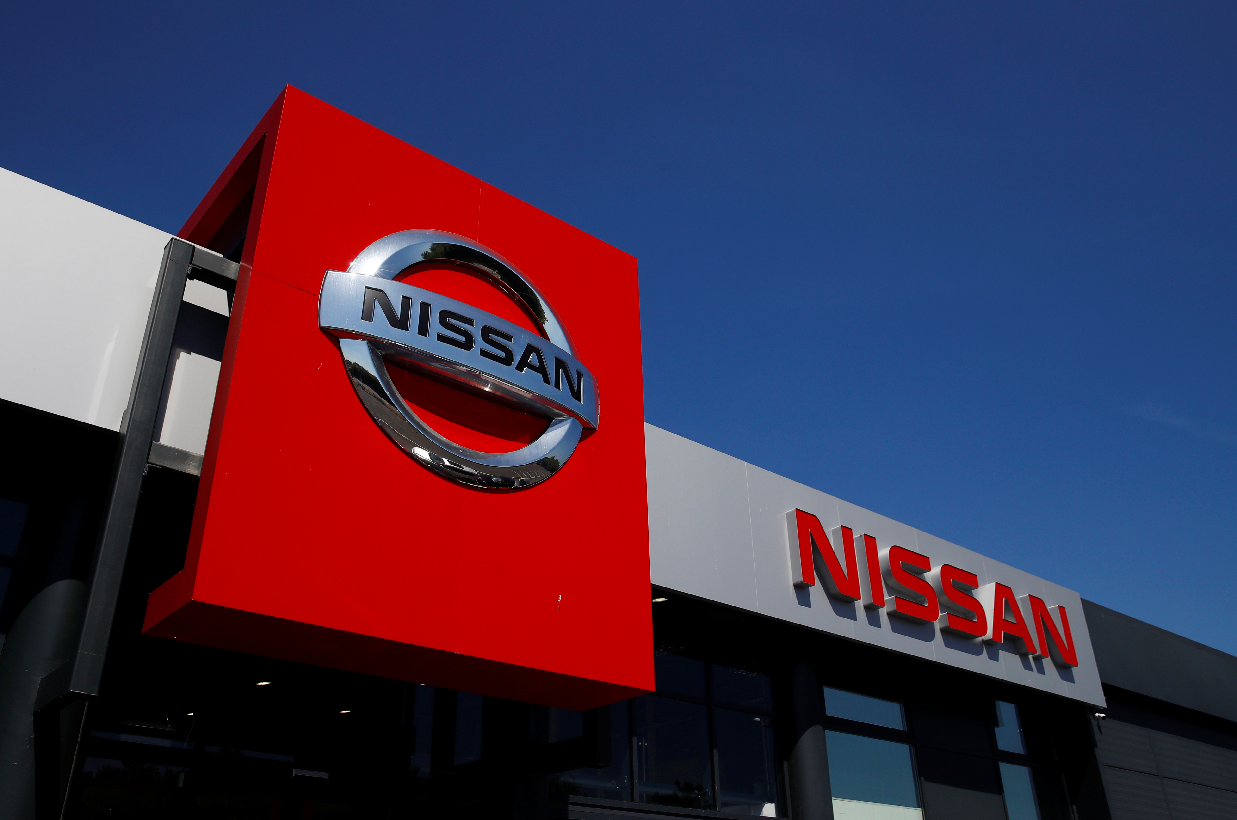 A Nissan car dealership is pictured in Northwich, following the outbreak of the coronavirus disease (COVID-19), Northwich, Britain, May 30, 2020. REUTERS/Jason Cairnduff