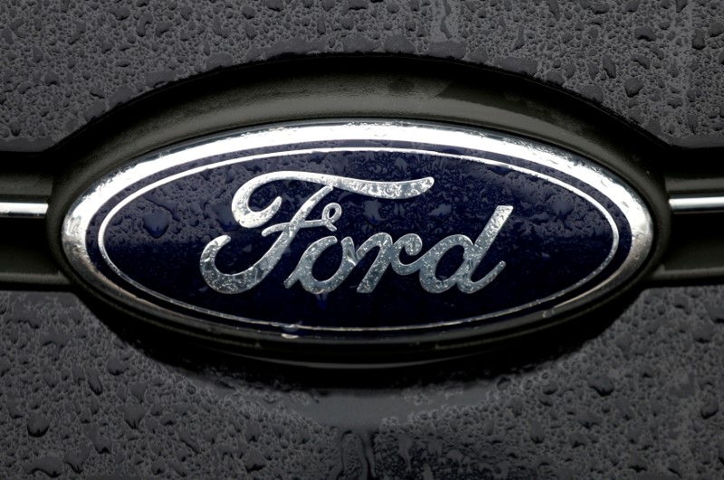 The Ford logo is pictured at the Ford Motor Co plant in Genk,Belgium December 17, 2014. REUTERS/Francois Lenoir