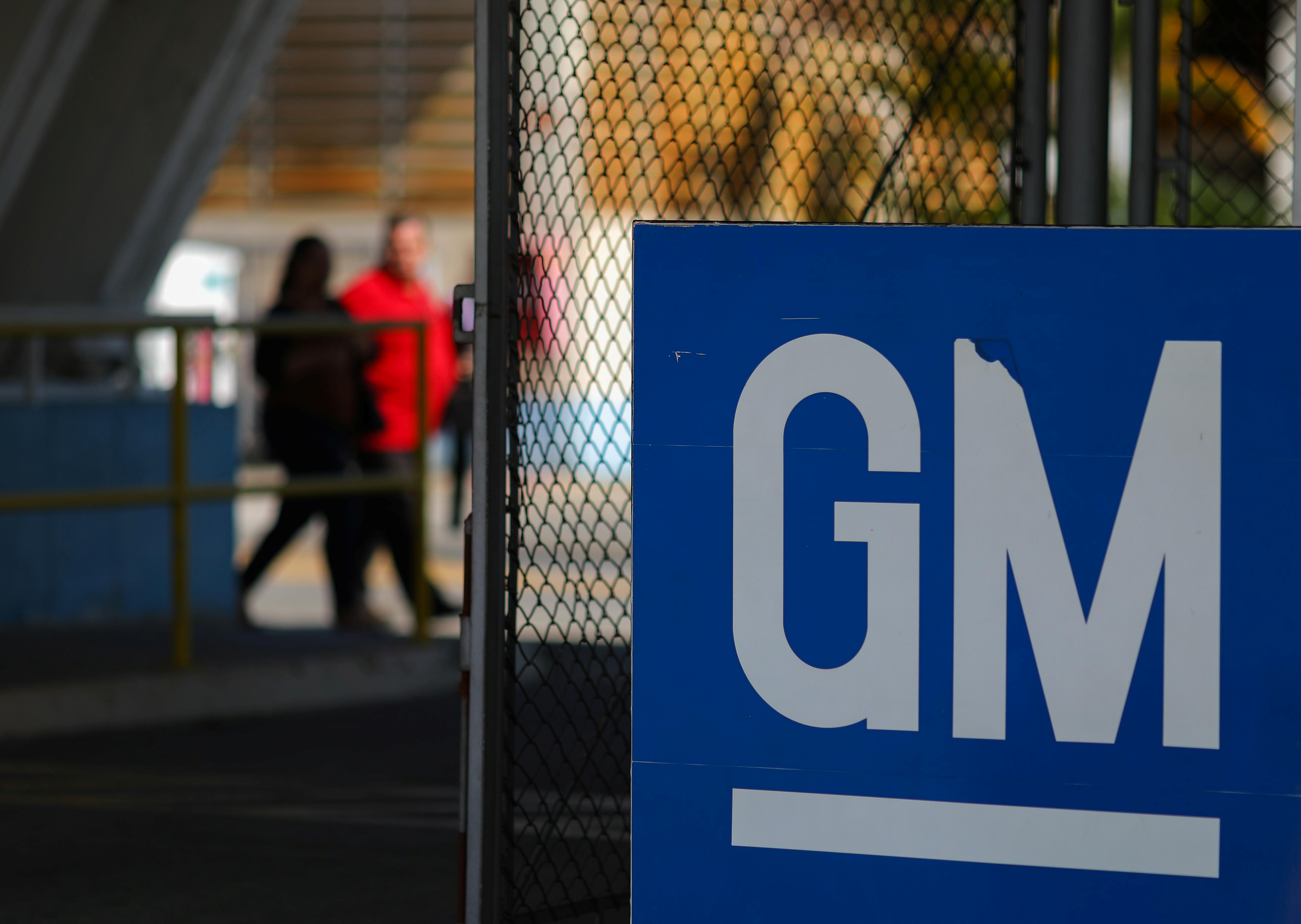 The GM logo is seen at the General Motors plant in Sao Jose dos Campos, Brazil, January 22, 2019. REUTERS/Roosevelt Cassio