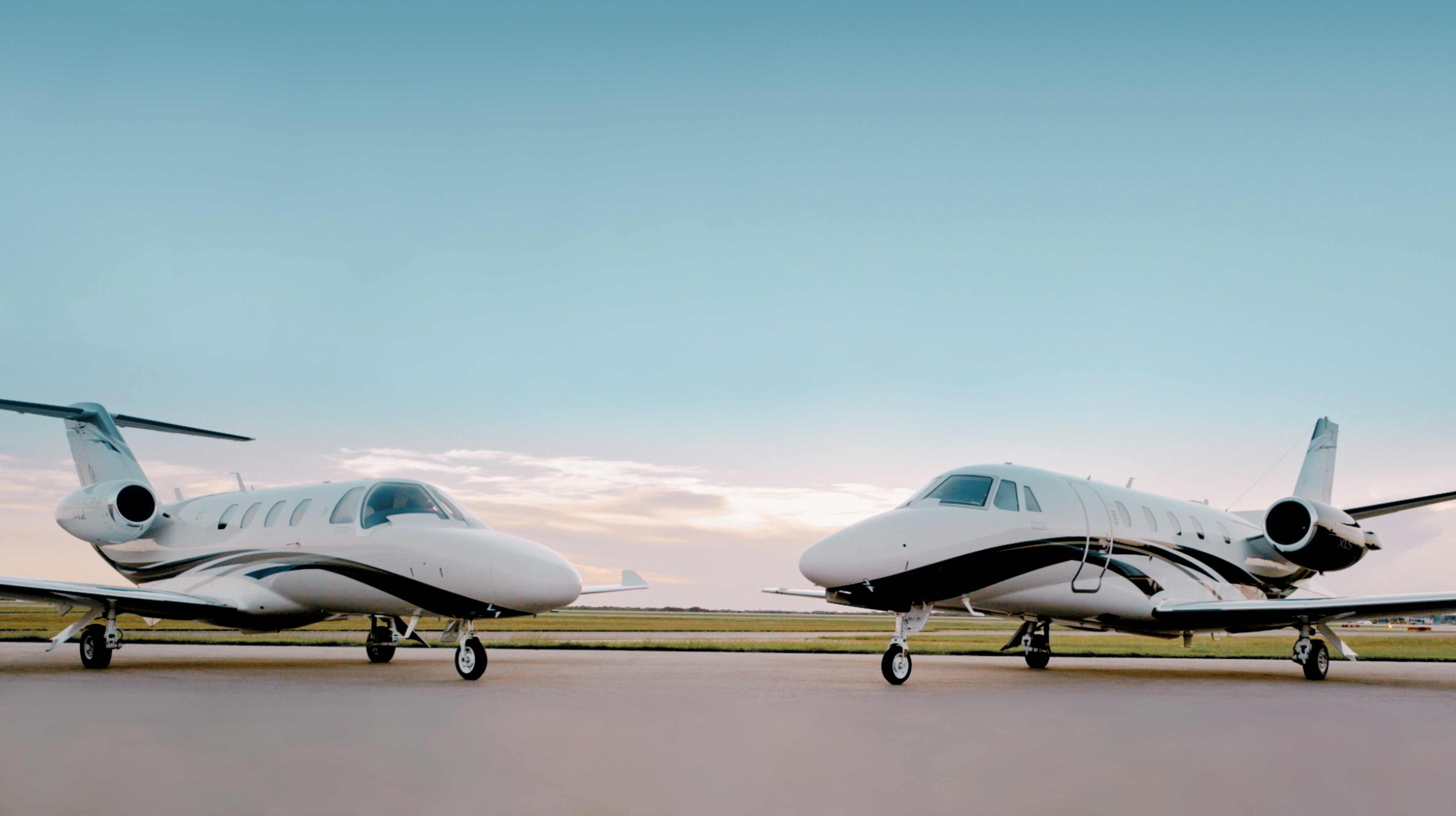 A handout photo shows the new Textron Cessna M2 and XLS+ Gen 2 jets in Wichita, Kansas, U.S., August 25, 2021. Picture taken August 25, 2021.  Chad Slattery/Handout via REUTERS/Files