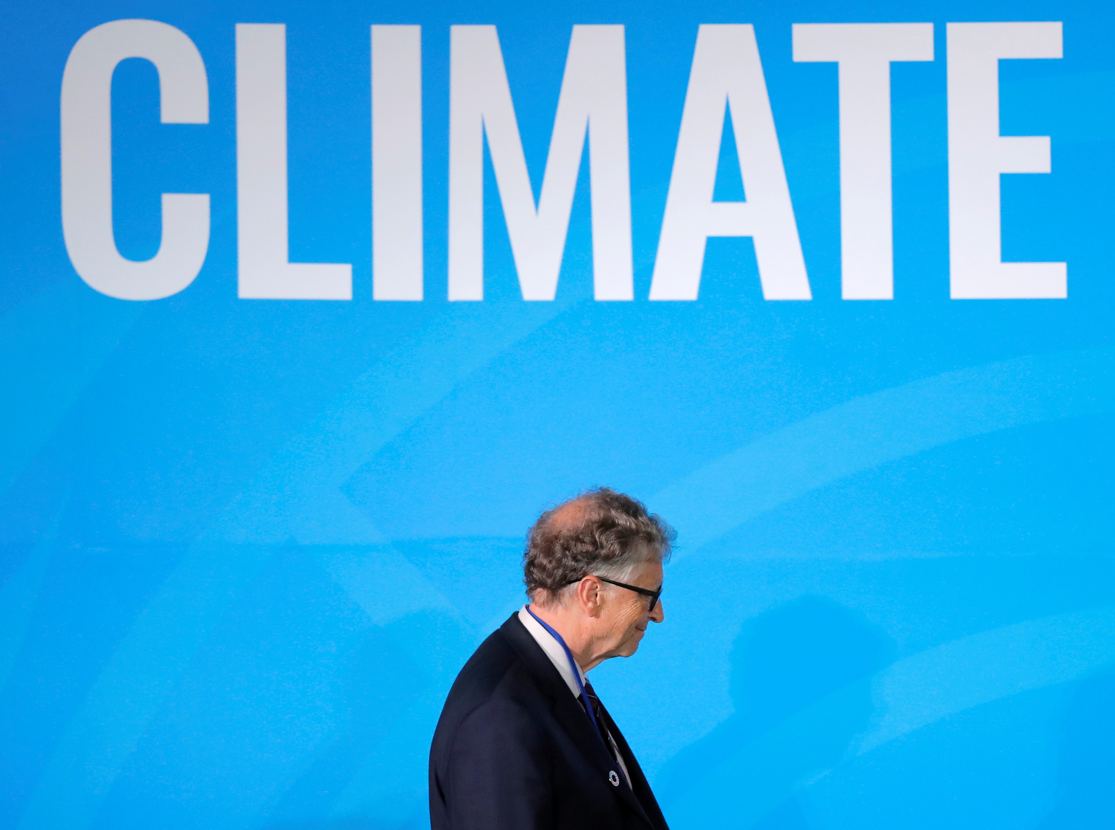 Bill Gates, Trustee and Co-Chair of the Global Commission on Adaptation, arrives to speak during the 2019 United Nations Climate Action Summit at U.N. headquarters in New York City, New York, U.S., September 23, 2019. REUTERS/Lucas Jackson
