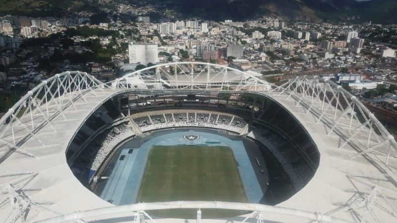 A general view of the Nilton Santos stadium in Rio de Janeiro, Brazil June 10, 2021. Picture taken with a drone. REUTERS/Pilar Olivares