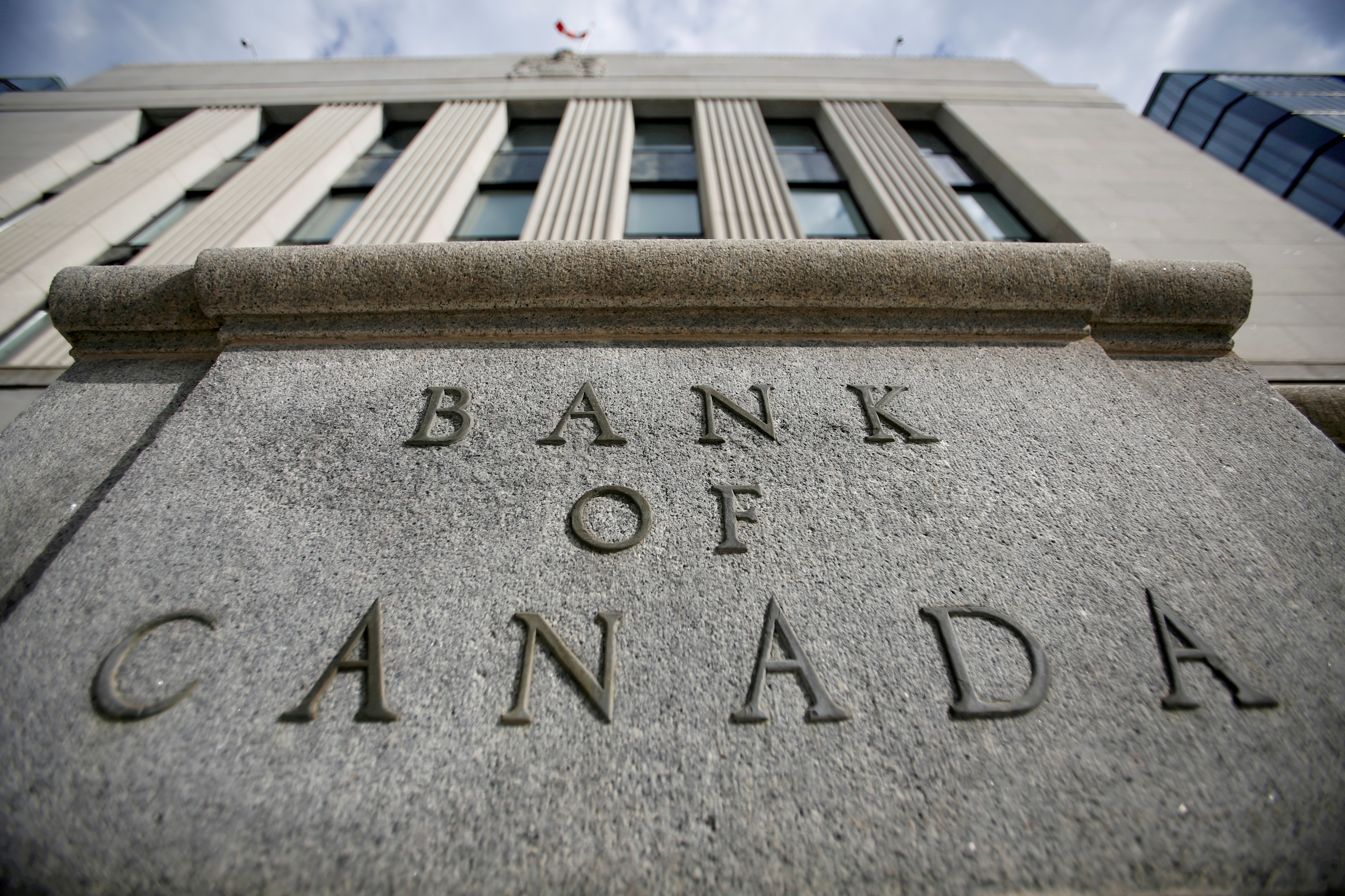 A sign is pictured outside the Bank of Canada building in Ottawa, Ontario, Canada, May 23, 2017. REUTERS/Chris Wattie/File Photo