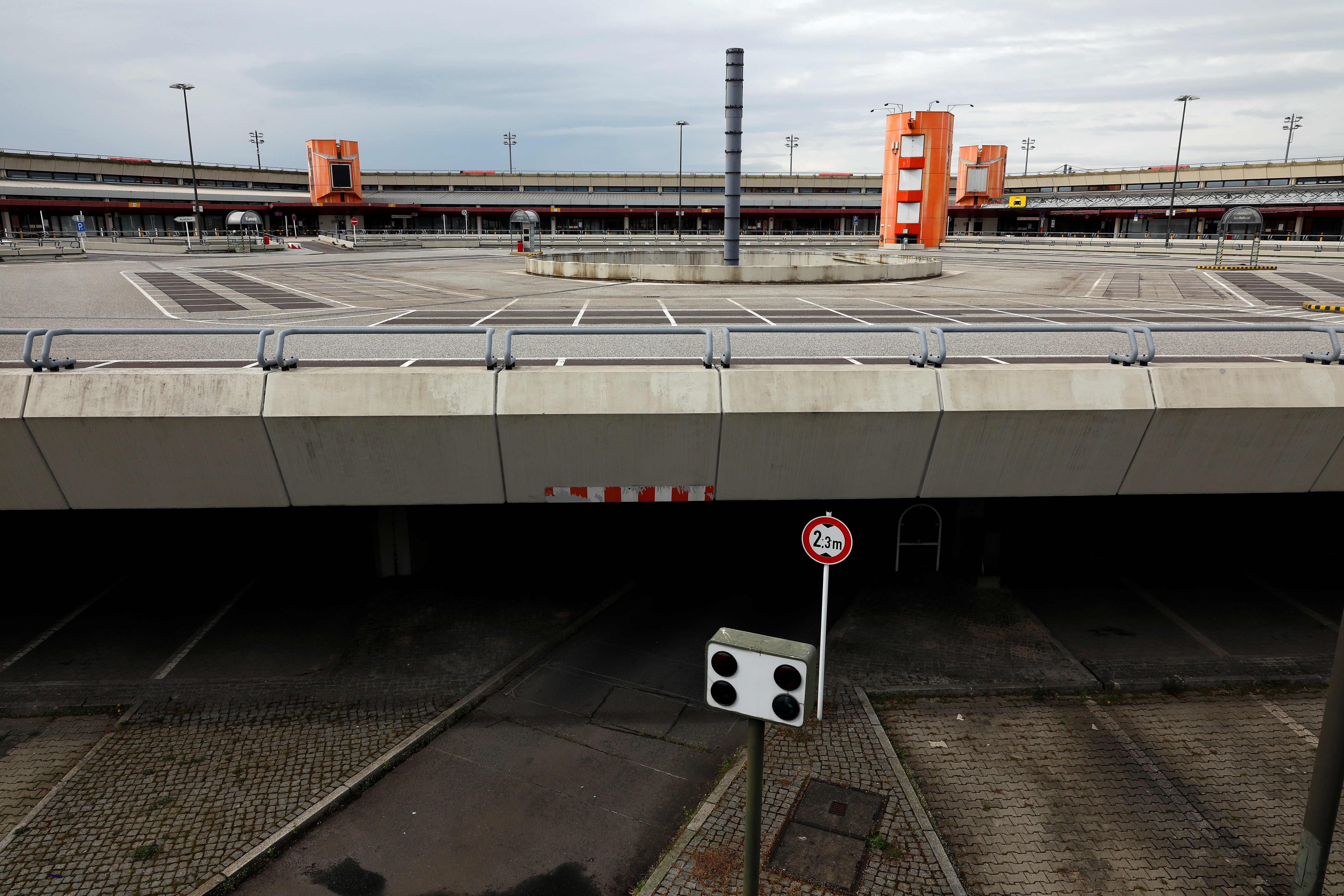 The former parking lot in the airport center is seen during the media tour at the former Berlin Tegel airport as the city's authorities are planning to build there more than 5,000 apartments, in Berlin, Germany May 4, 2021.  REUTERS/Michele Tantussi