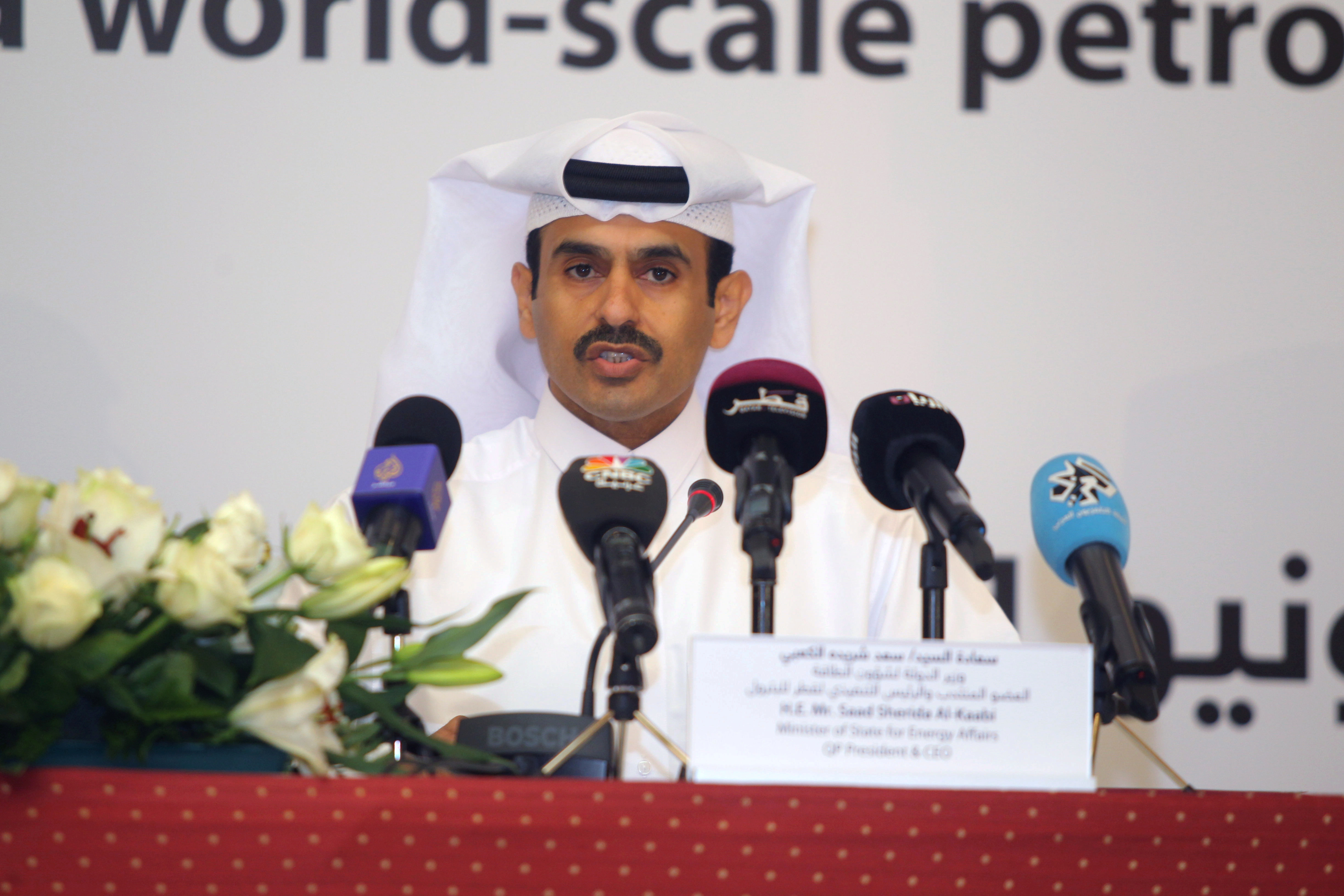 Qatar Petroleum CEO and Minister of State for Energy Saad al-Kaabi speaks during a news conference in Doha, Qatar June 24, 2019. REUTERS/Naseem Zeitoun/File Photo