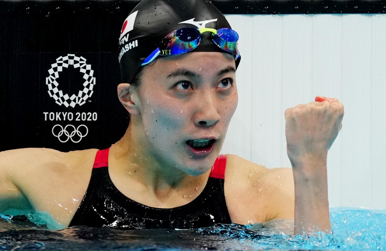 Tokyo 2020 Olympics - Swimming - Women's 200m Individual Medley - Final - Tokyo Aquatics Centre - Tokyo, Japan - July 28, 2021. Yui Ohashi of Japan reacts after winning. REUTERS/Aleksandra Szmigiel