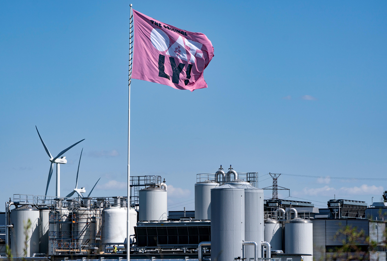 The Oatly factory is seen in Landskrona, Sweden May 20, 2021. TT News Agency/Johan Nilsson via REUTERS