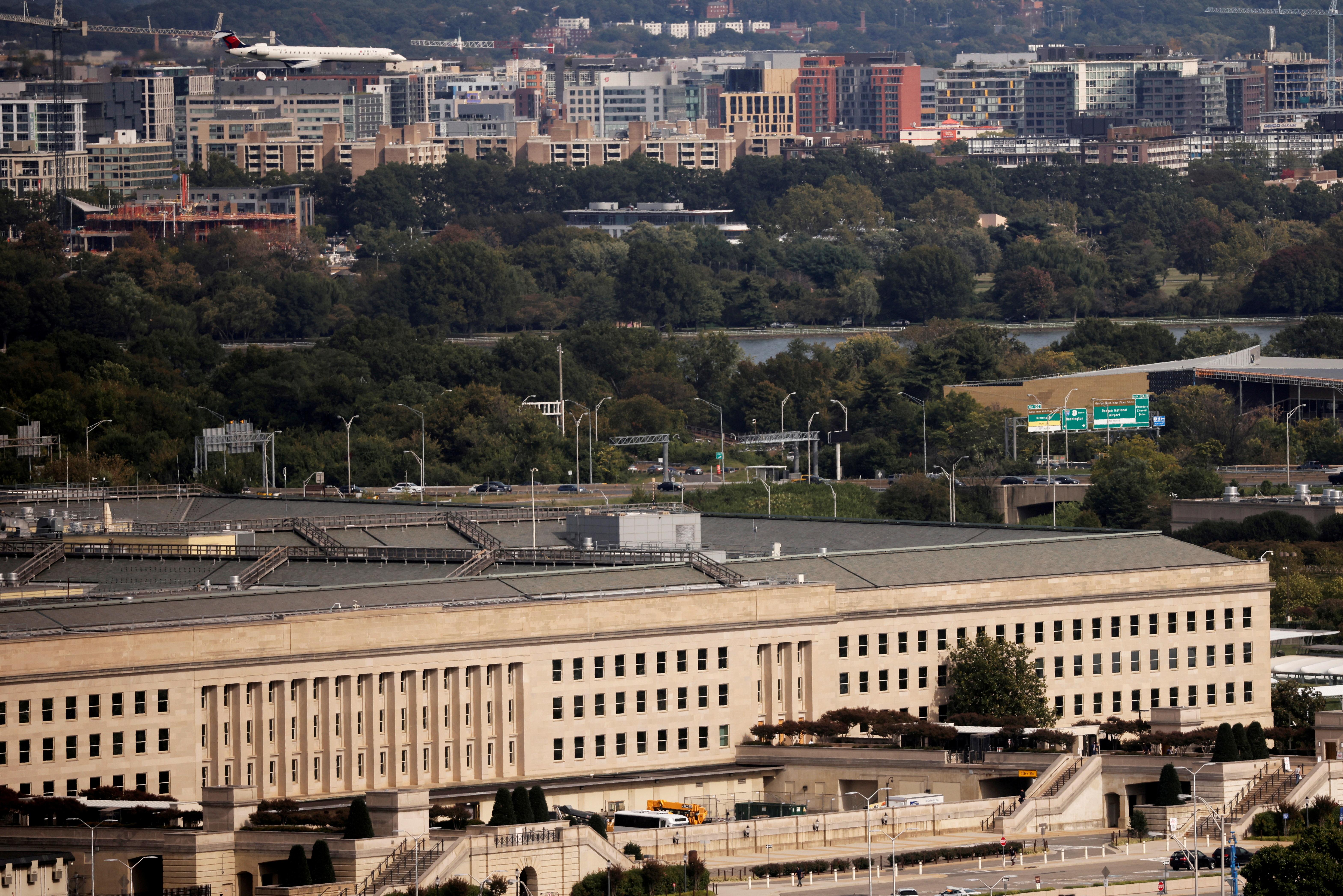 The Pentagon building is seen in Arlington, Virginia, U.S. October 9, 2020. REUTERS/Carlos Barria/File Photo