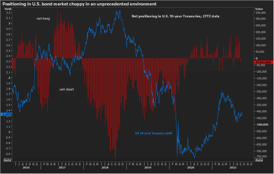 Net positioning in the US Treasury market
