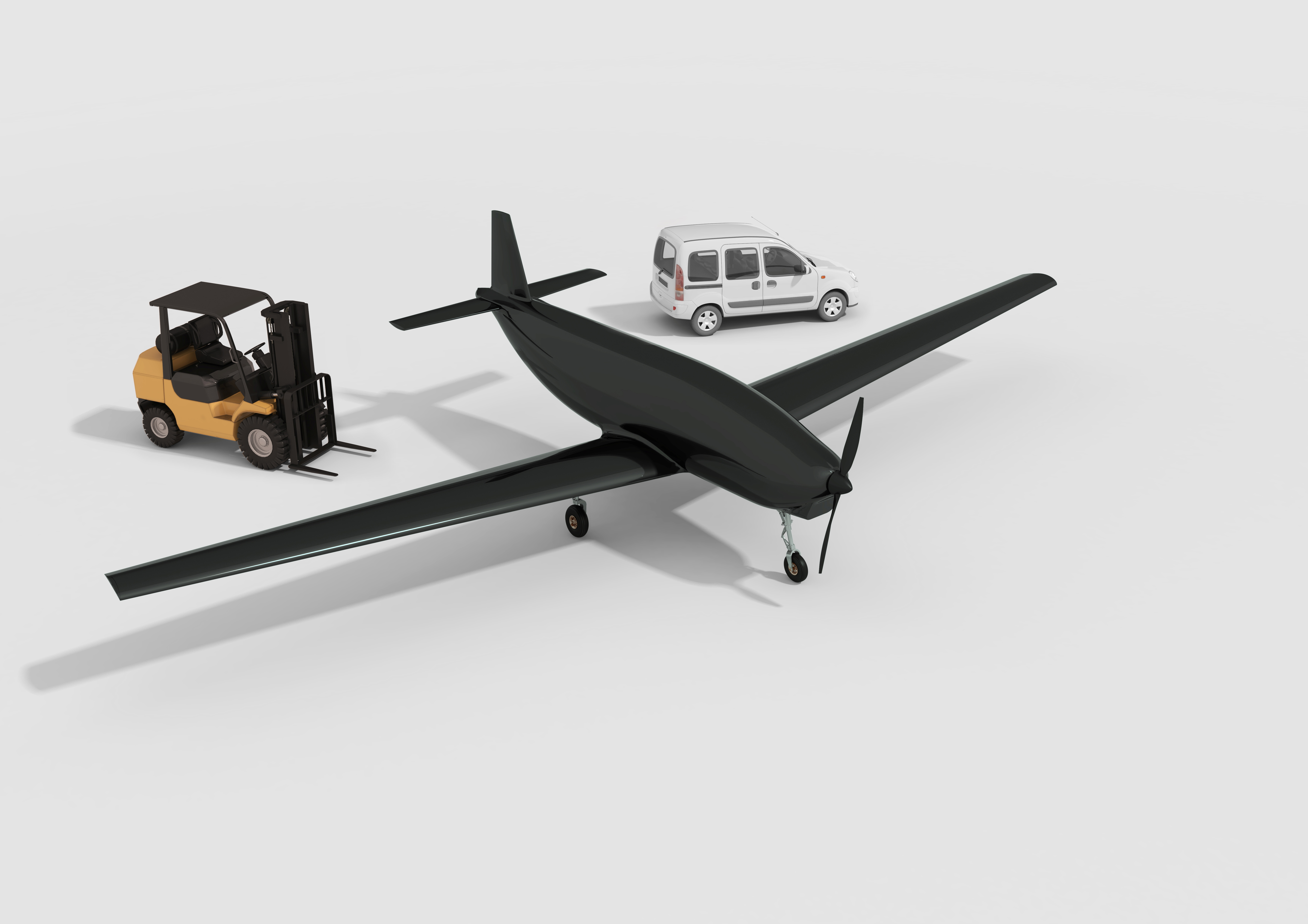 A longer range drone is seen in this handout illustration.  Dronamics/Handout via REUTERS