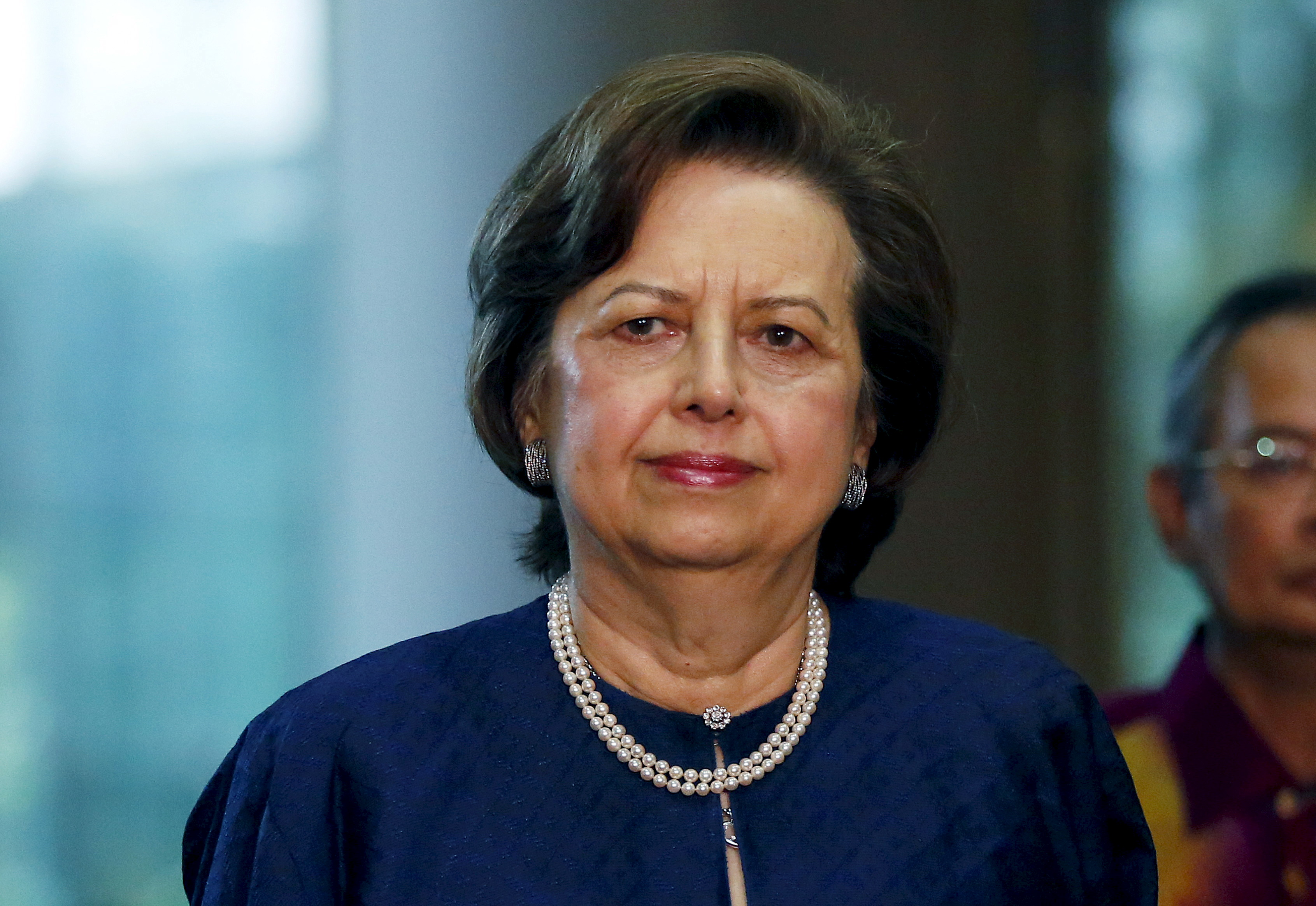 Malaysia's Bank Negara Governor Zeti Akhtar Aziz arrives at an event announcing revisions to the fiscal budget in Putrajaya, Malaysia, January 28, 2016.  REUTERS/Olivia Harris/File Photo