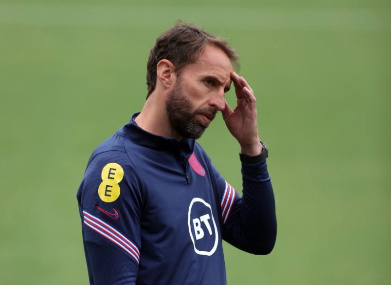 Soccer Football - Euro 2020 - England Training - St. George's Park, Burton upon Trent, Britain - June 10, 2021 England manager Gareth Southgate during training REUTERS/Carl Recine