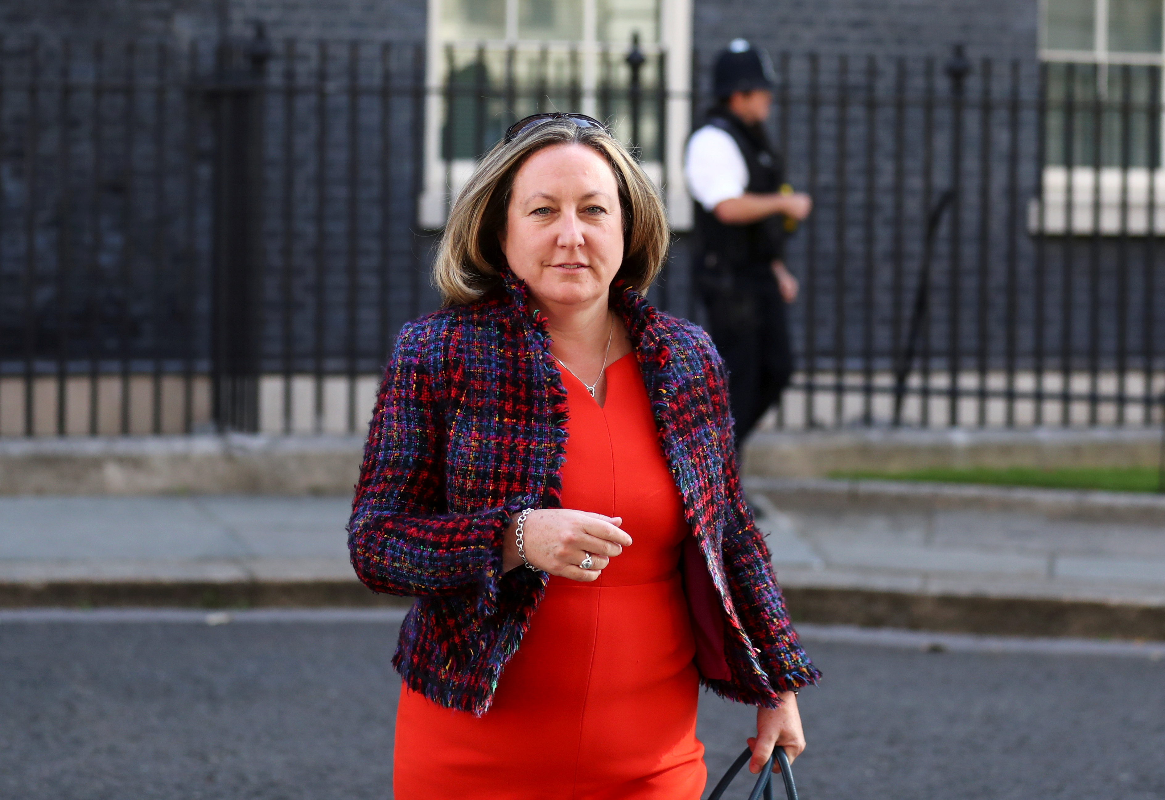 Britain's Secretary of State for International Development Anne-Marie Trevelyan arrives for a cabinet meeting, the first since mid-March because of the coronavirus disease (COVID-19) pandemic, at Downing Street in London, Britain, July 21, 2020. REUTERS/Simon Dawson