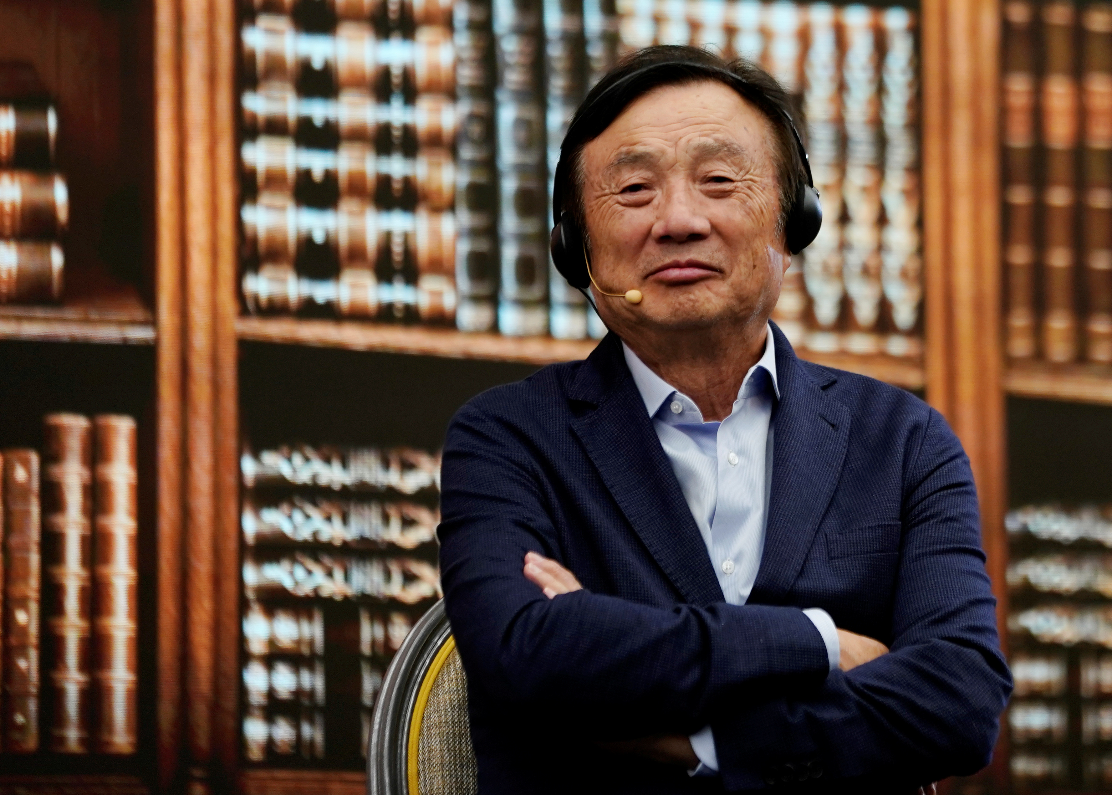 Huawei founder Ren Zhengfei attends a panel discussion at the company headquarters in Shenzhen, Guangdong province, China June 17, 2019. REUTERS/Aly Song