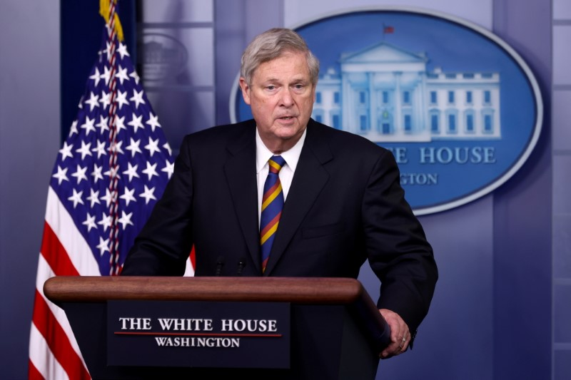 U.S. AgricultureSecretary Tom Vilsack speaks during the daily press briefing at the White House in Washington, U.S. May 5, 2021.  REUTERS/Jonathan Ernst/File Photo