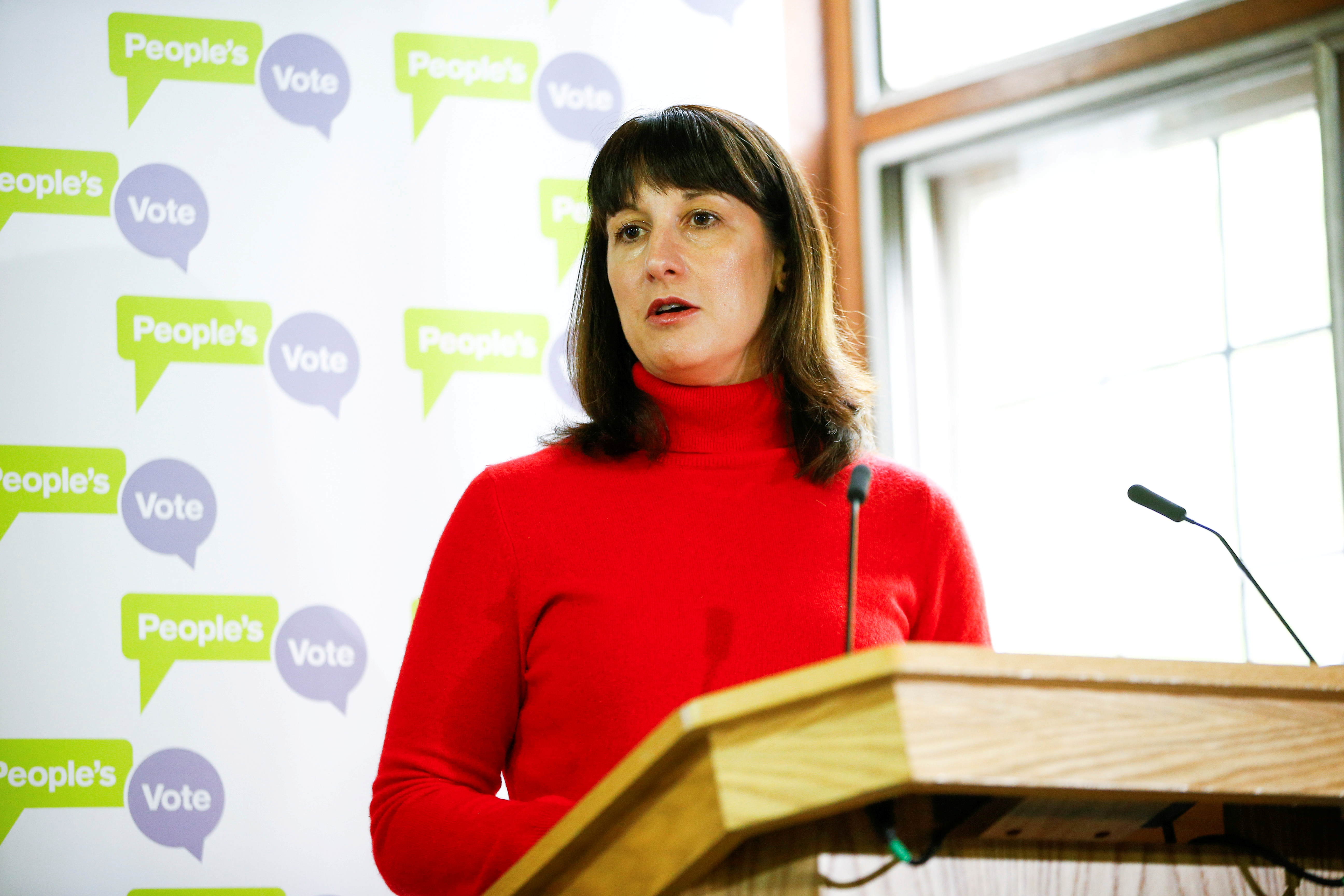 Labour politician Rachel Reeves speaks during a People's Vote press conference at the National Institute of Economic and Social Research in London, Britain May 9, 2019.  REUTERS/Henry Nicholls/File Photo